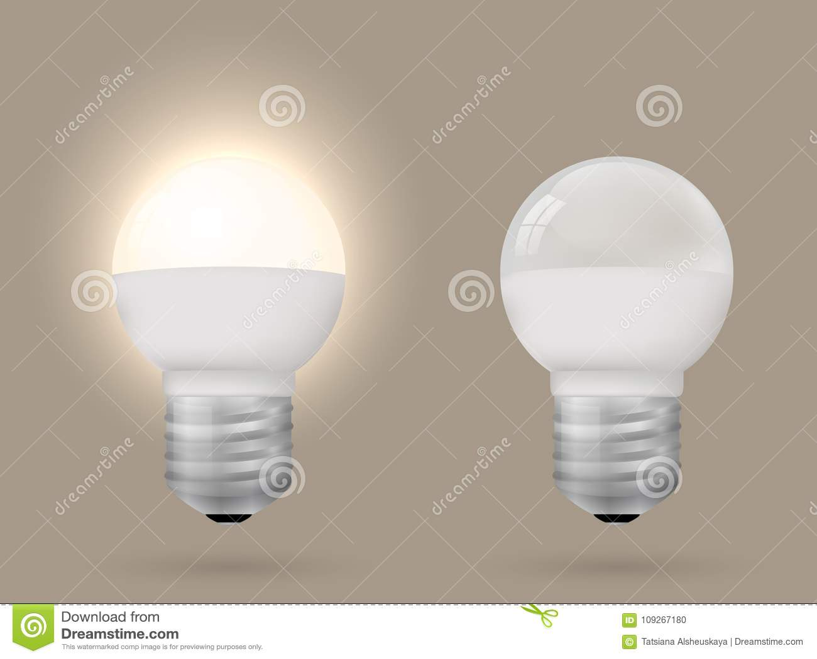 L économie d énergie allumée et a commuté outre de l ampoule
