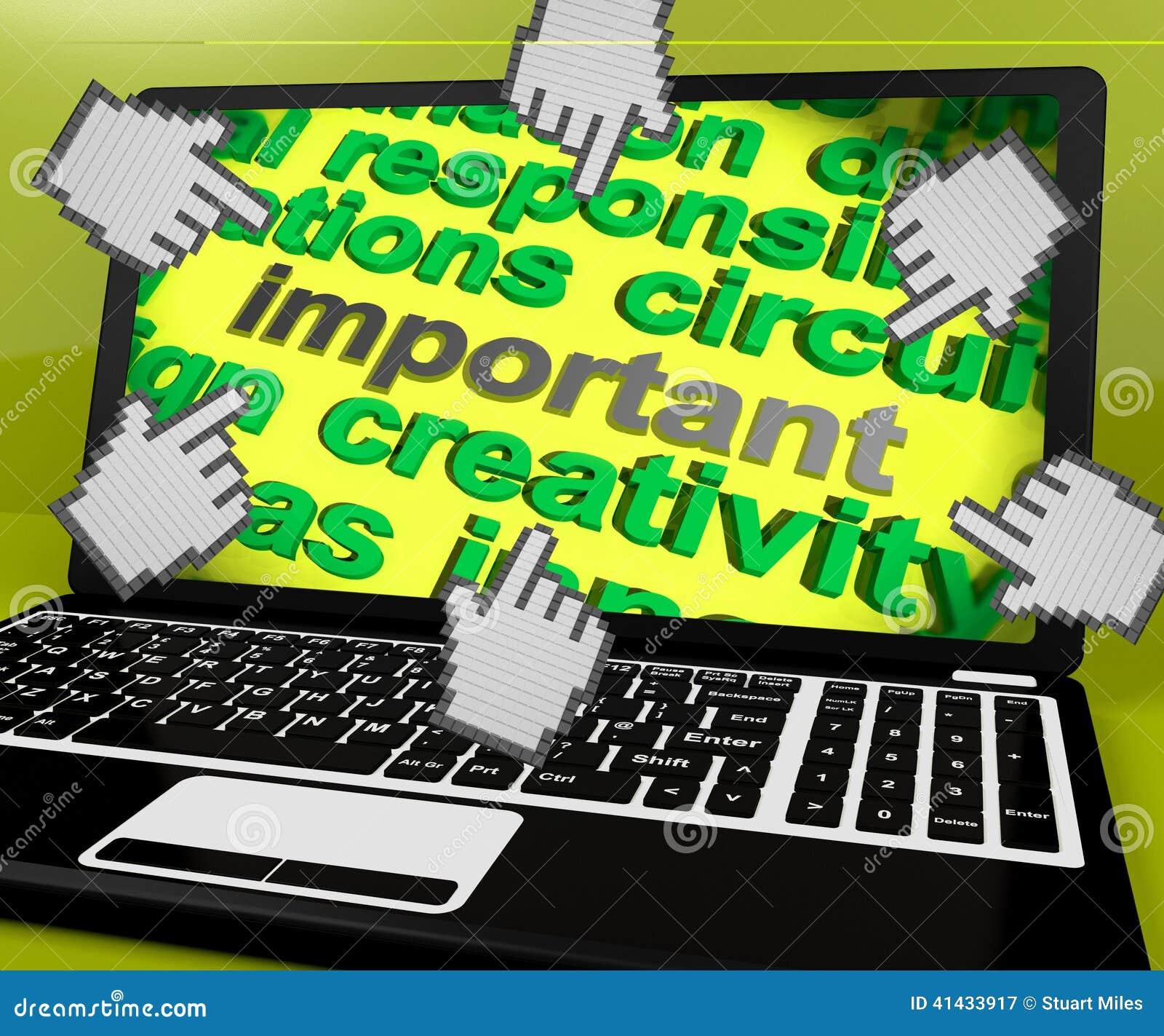 L écran important d ordinateur portable signifie critique significatif ou la priorité