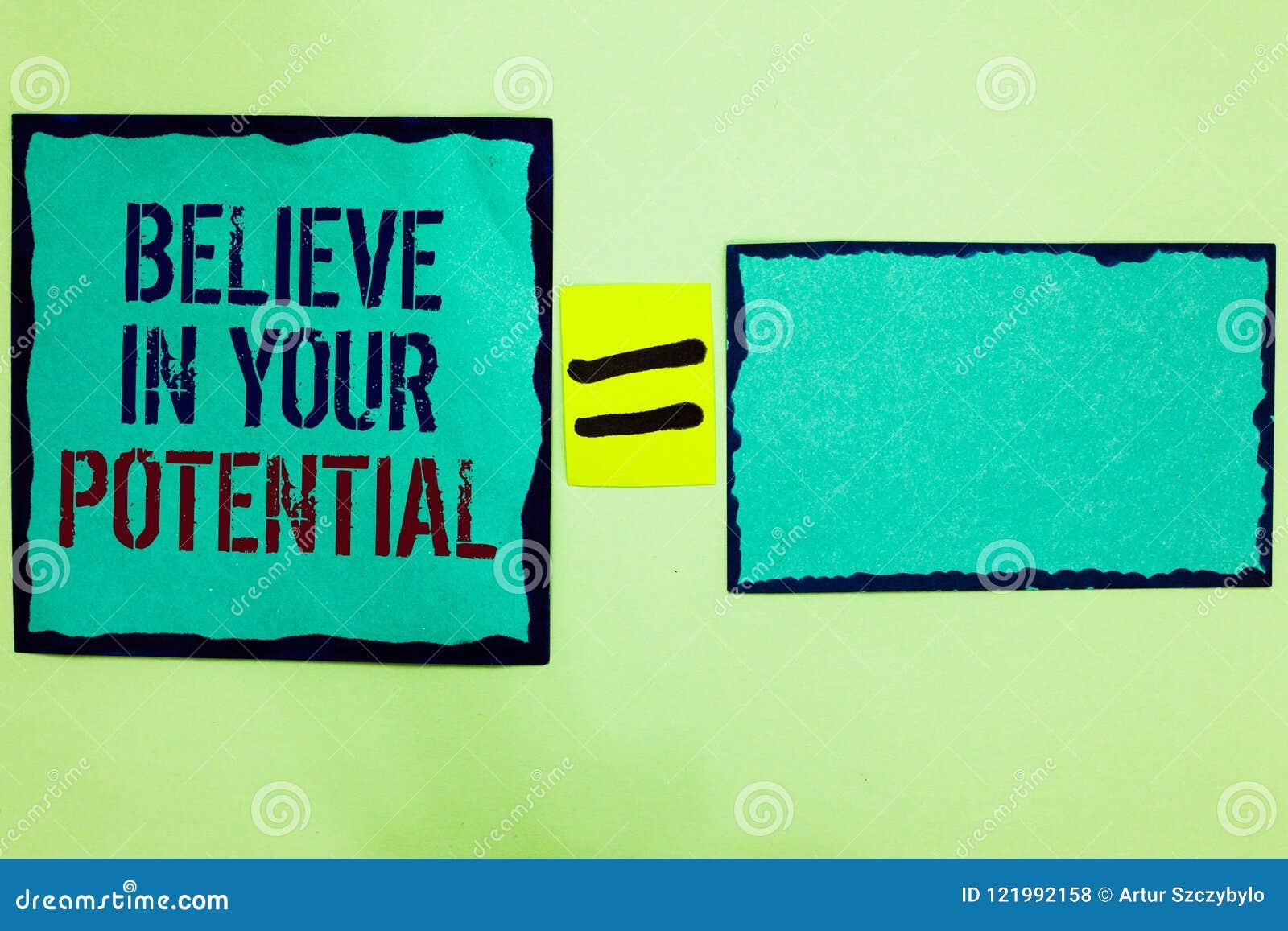 L écriture des textes d écriture croient en votre potentiel La signification de concept font s inspirer le motiavate de confiance