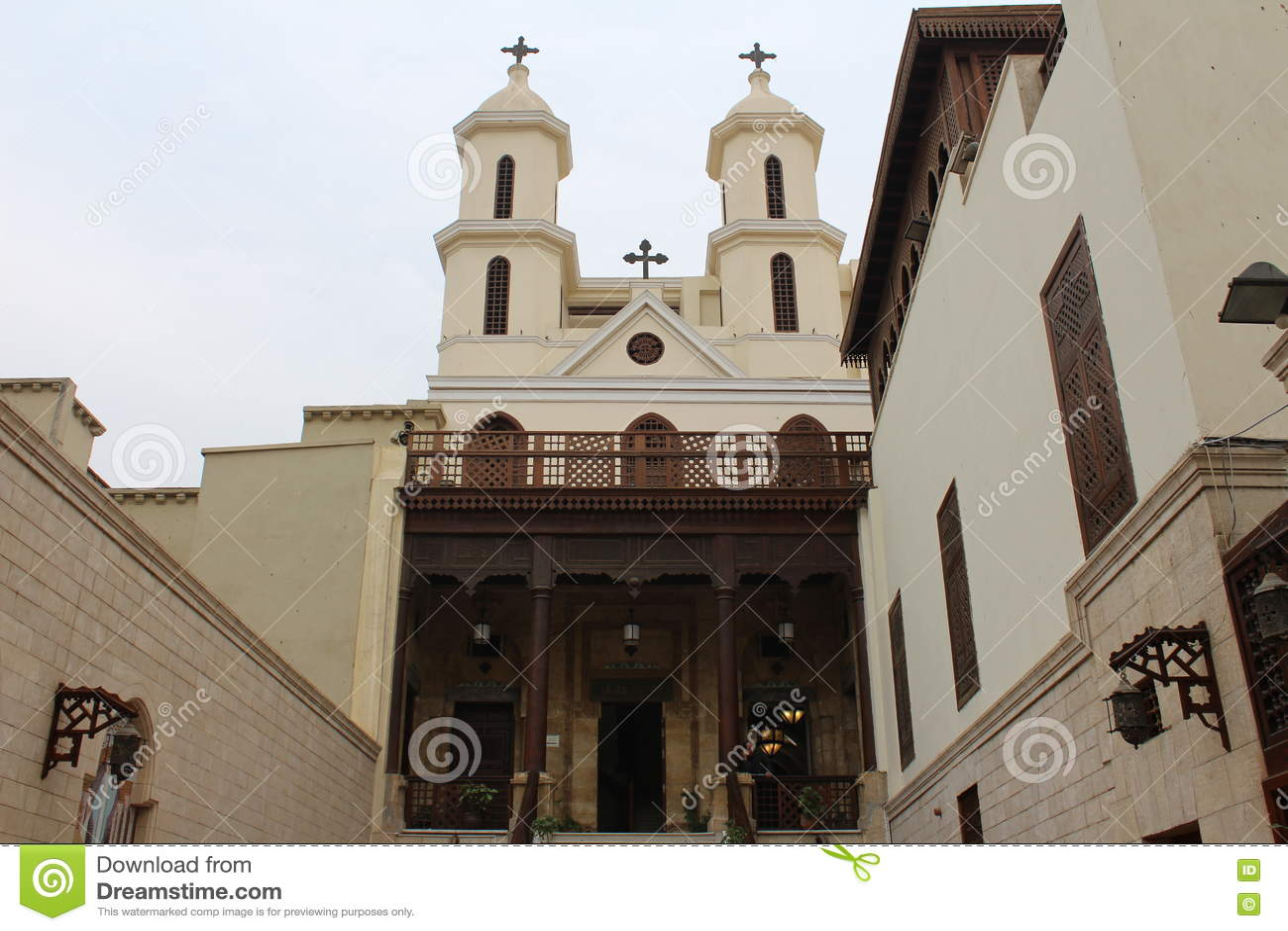 L église accrochante, le vieux Caire, Egypte