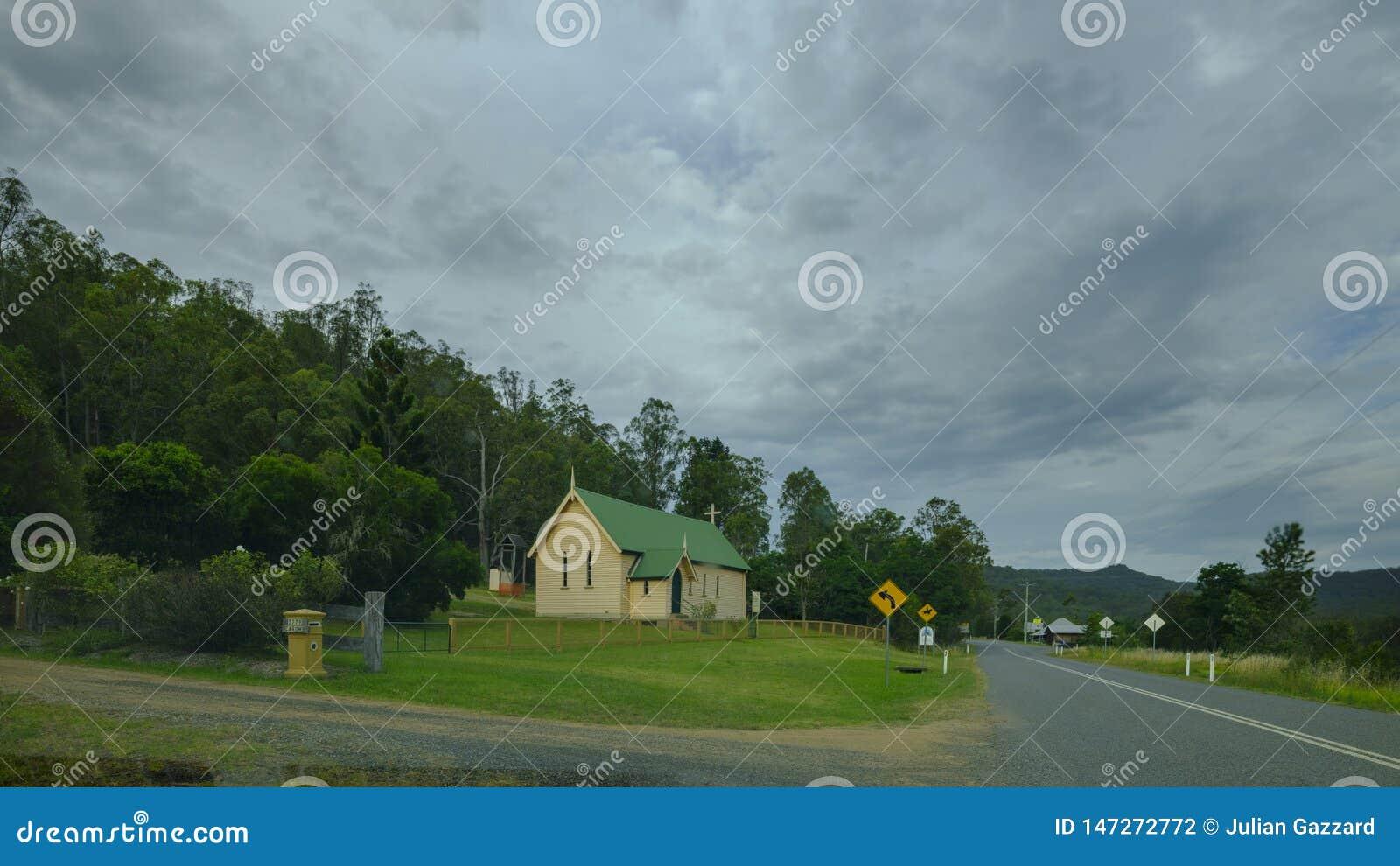 L Église Anglicane de St Mark à Laguna sur la grande route du nord près de Wollombi, Hunter Valley, NSW, Australie