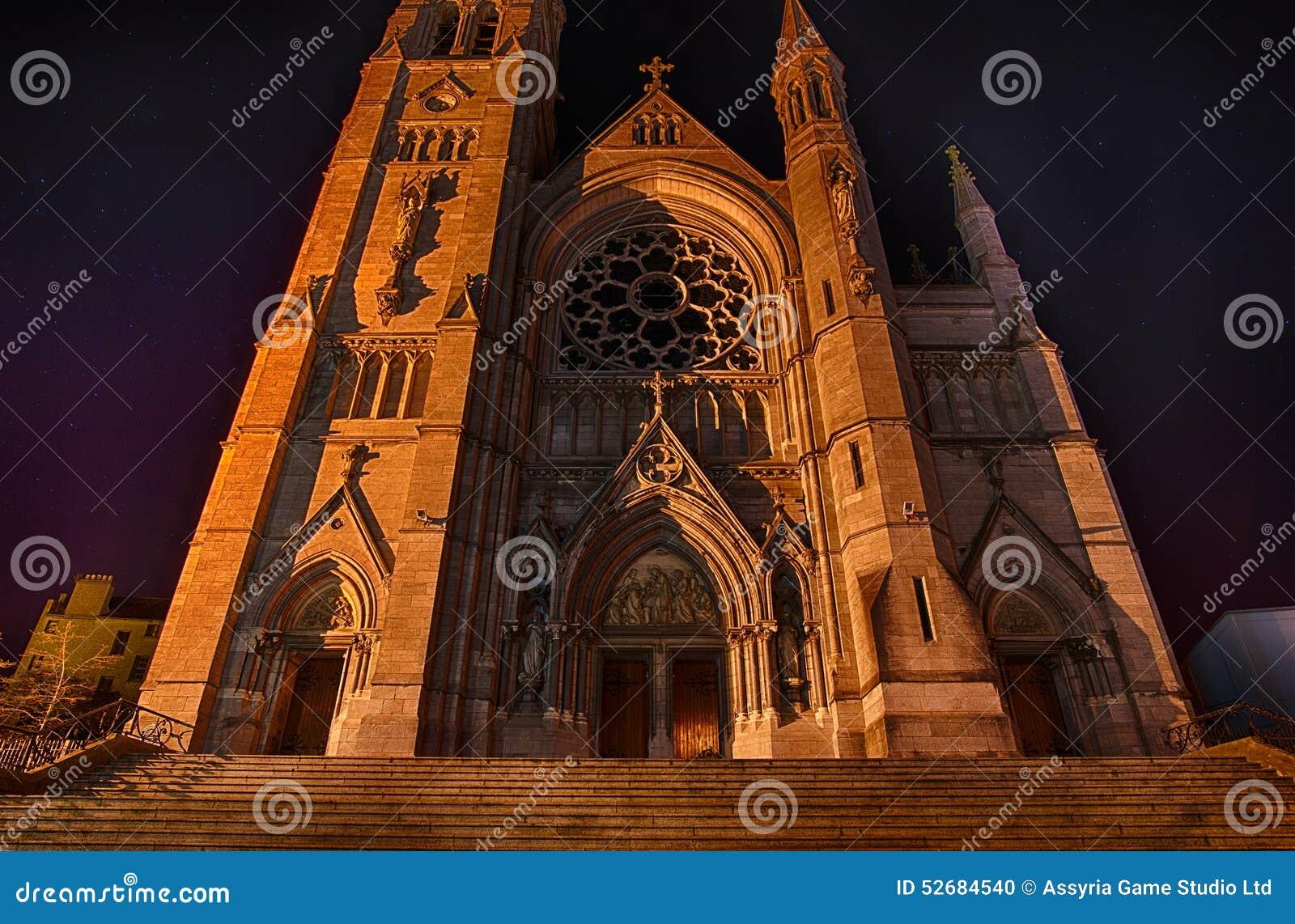 L église Drogheda de St Peter la nuit