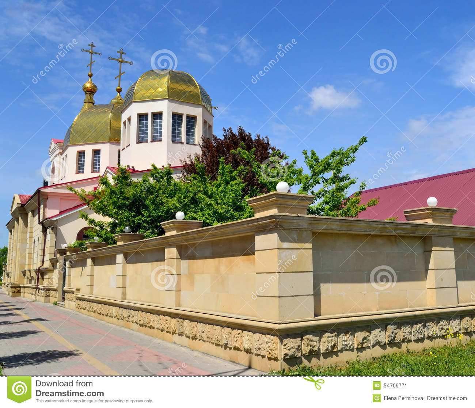 L église orthodoxe à Grozni
