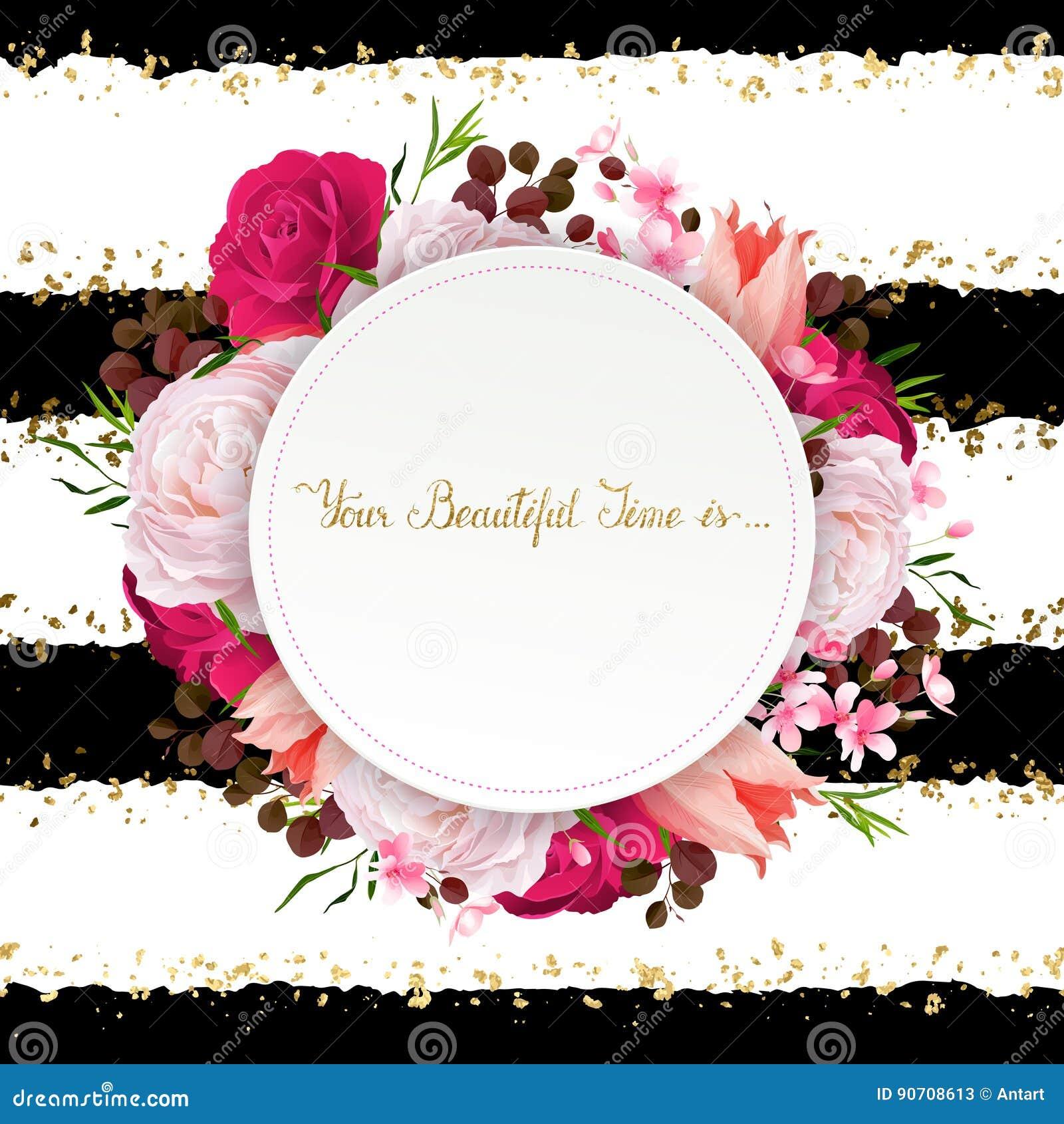l 39 l gance fleurit le cadre des roses et des tulipes de couleur composition avec des fleurs de. Black Bedroom Furniture Sets. Home Design Ideas