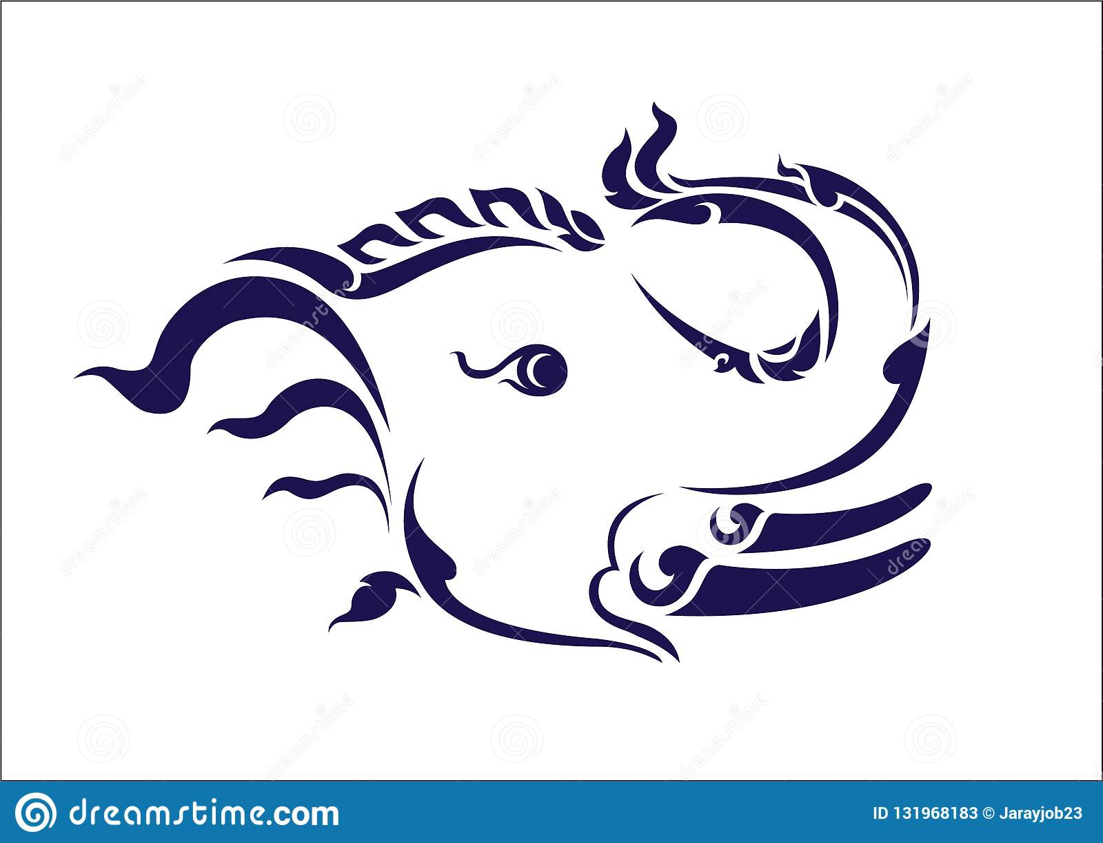 L éléphant masculin tient un tronc