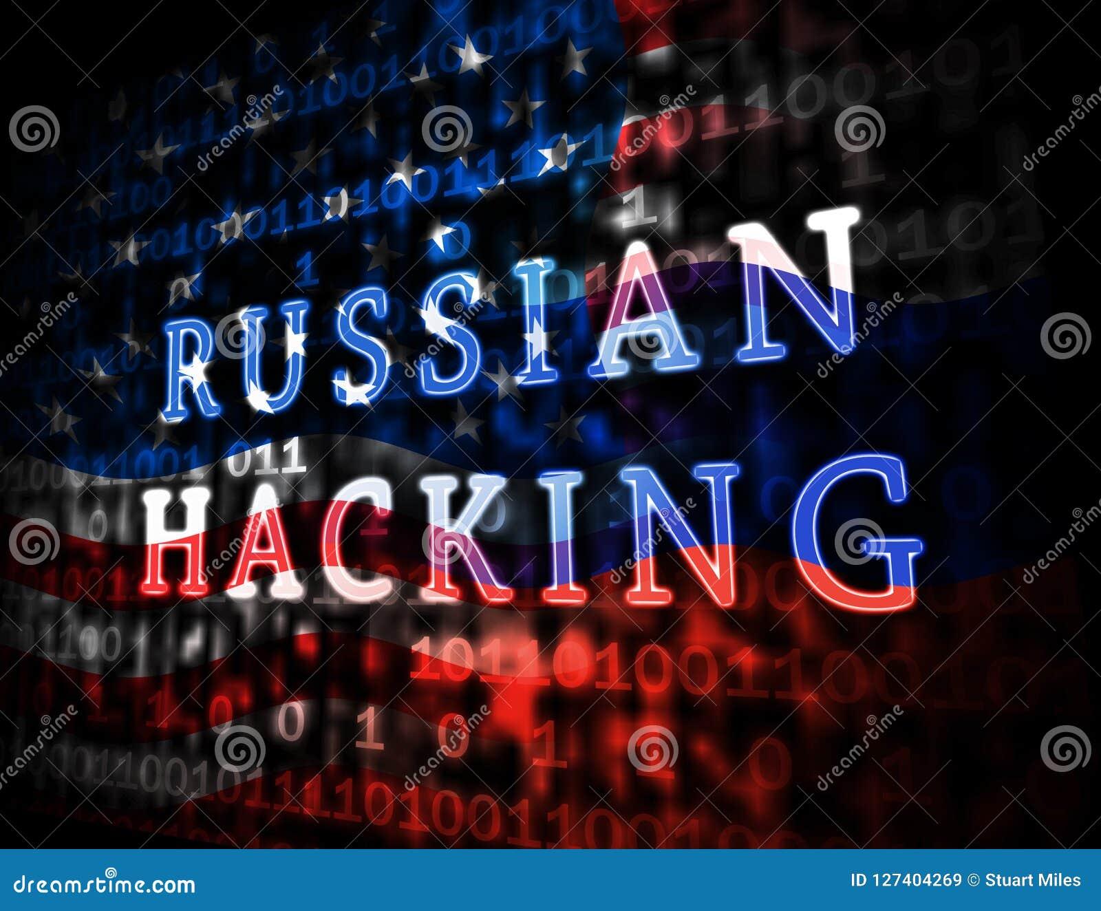 L élection entaillant l espionnage russe attaque l illustration 3d