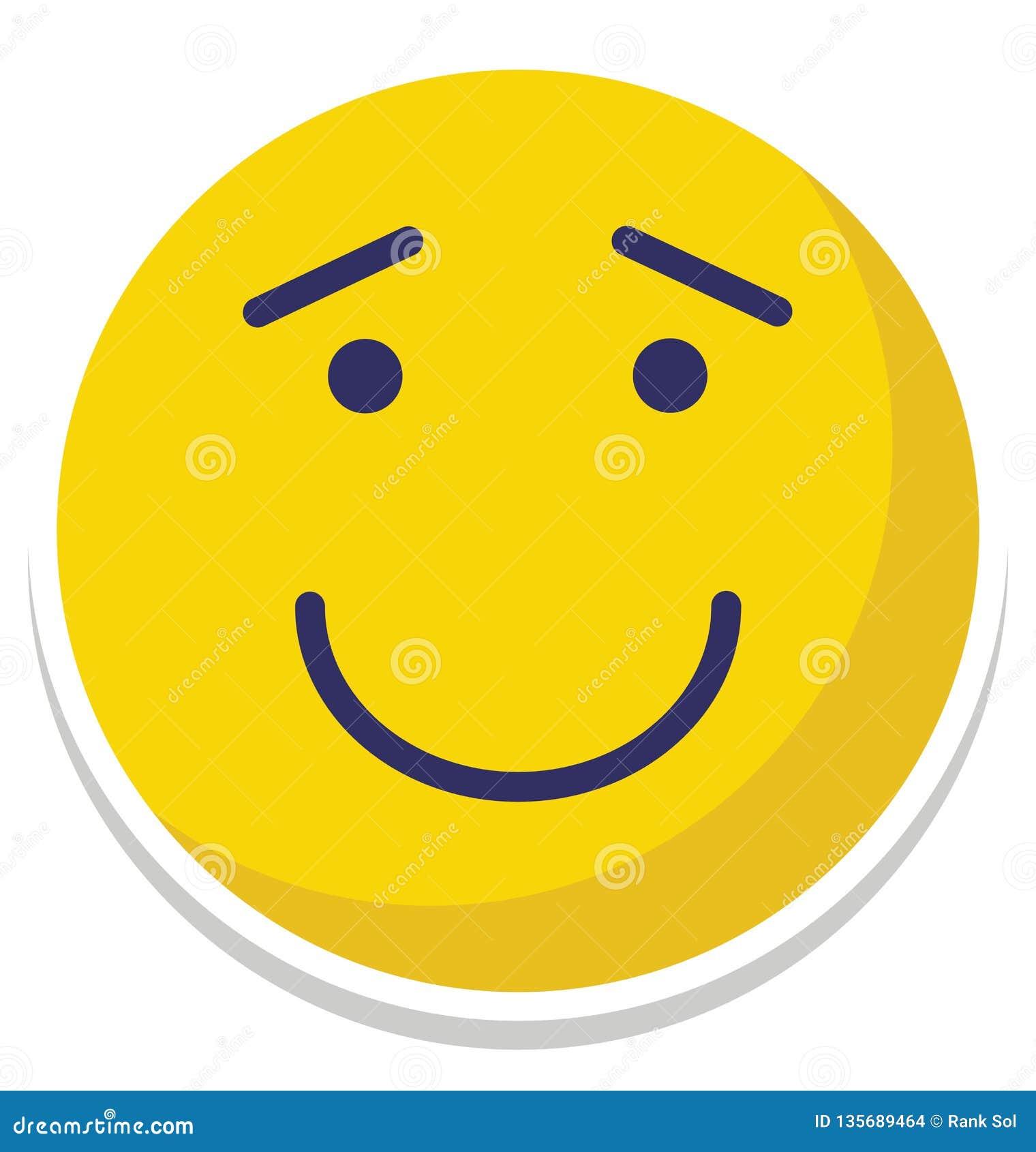 L émoticône, vecteur d émotion a isolé l icône qui peut facilement modifier ou éditer l émoticône, l icône d isolement par vecteu