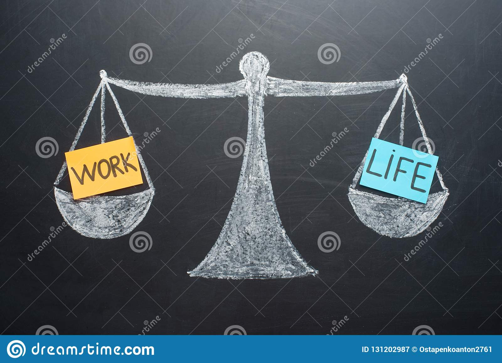 L équilibre de la vie de travail mesure des affaires et le choix de mode de vie de famille