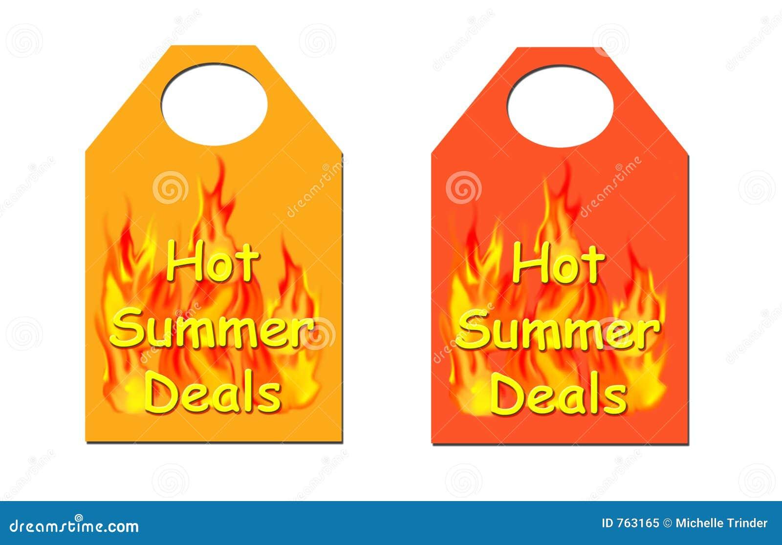 L été chaud s occupe l étiquette.