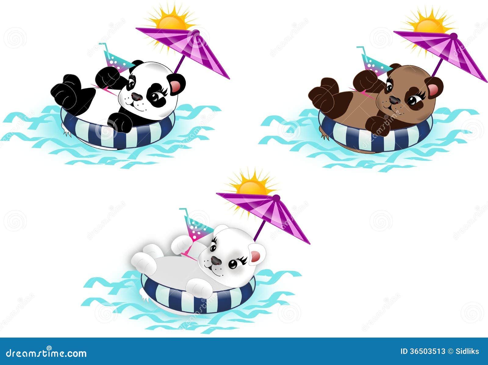 L été détendent des ours