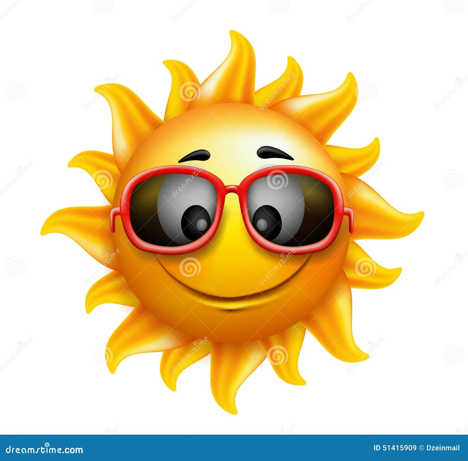 L 39 t sun font face avec des lunettes de soleil et le - Dessin soleil rigolo ...