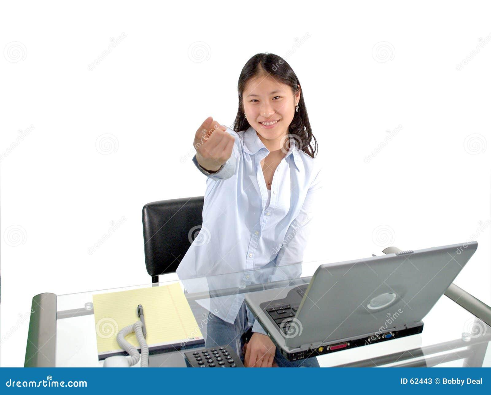 Download L'étudiant montre du doigt image stock. Image du japonais - 62443