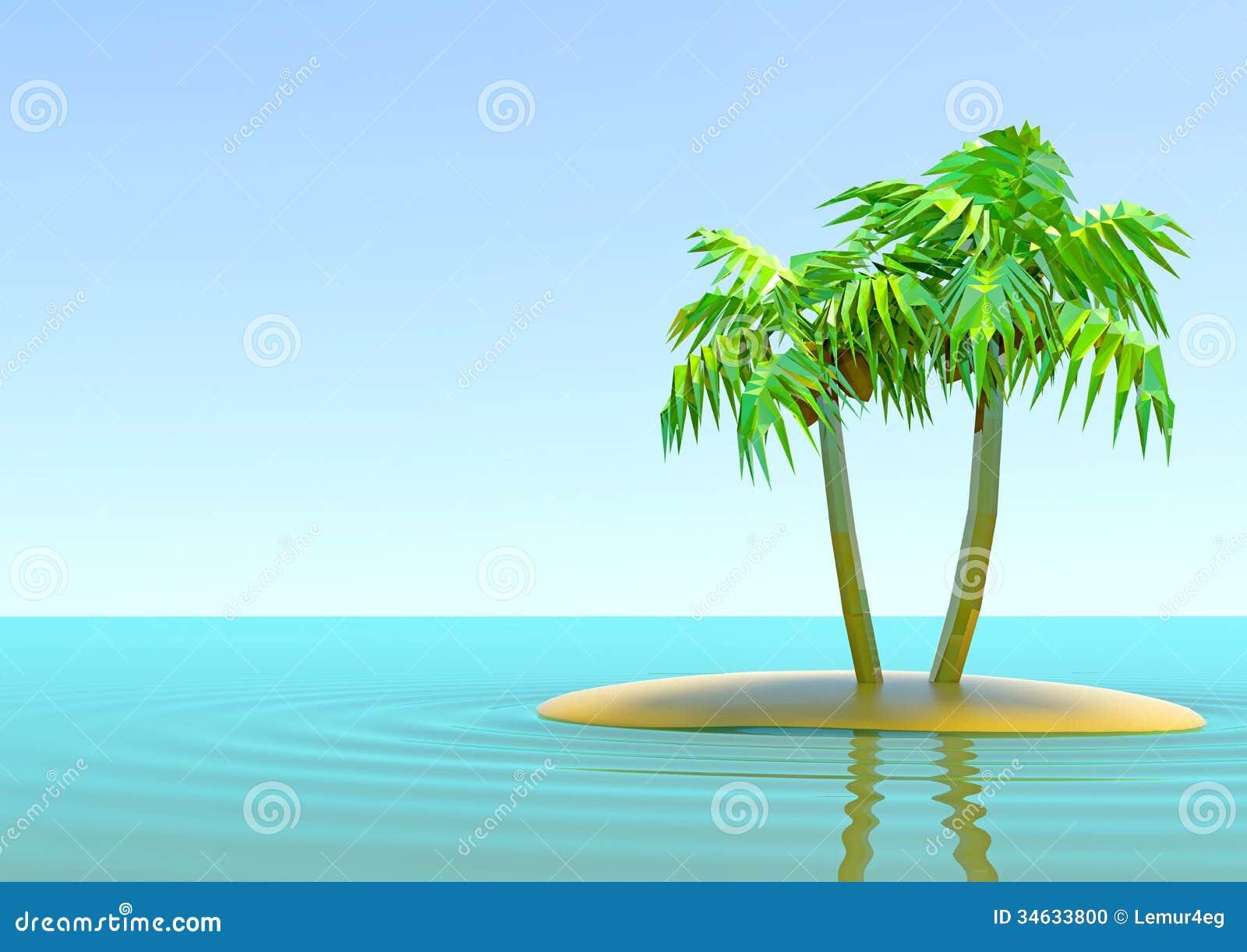 L 39 le d serte avec des palmiers illustration stock illustration du beau climate 34633800 - Palmier clipart ...