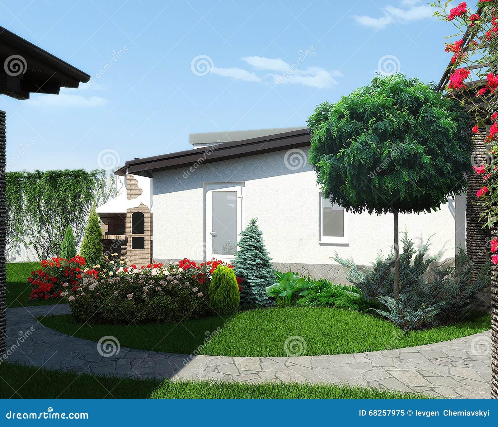 L 39 abbellimento del cortile e la progettazione del giardino for Giardino 3d