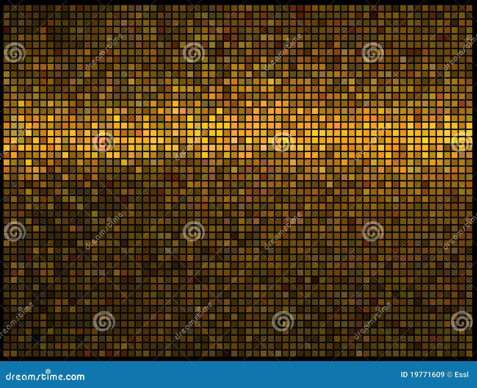 L abstrait allume le fond de disco d or