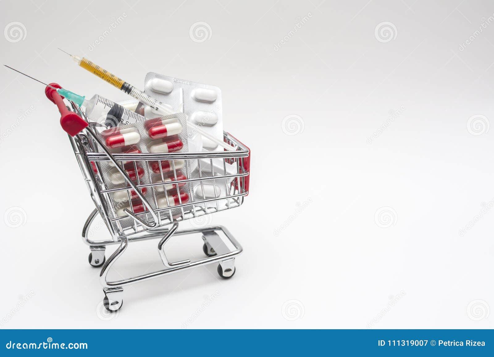 L achat des drogues des seringues de pharmacie dope, des seringues dans les achats