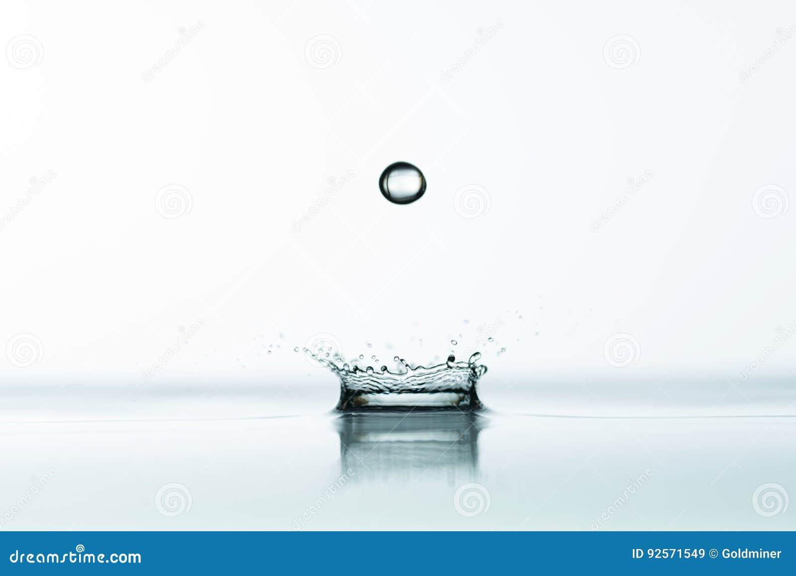 L acqua spruzza il fondo
