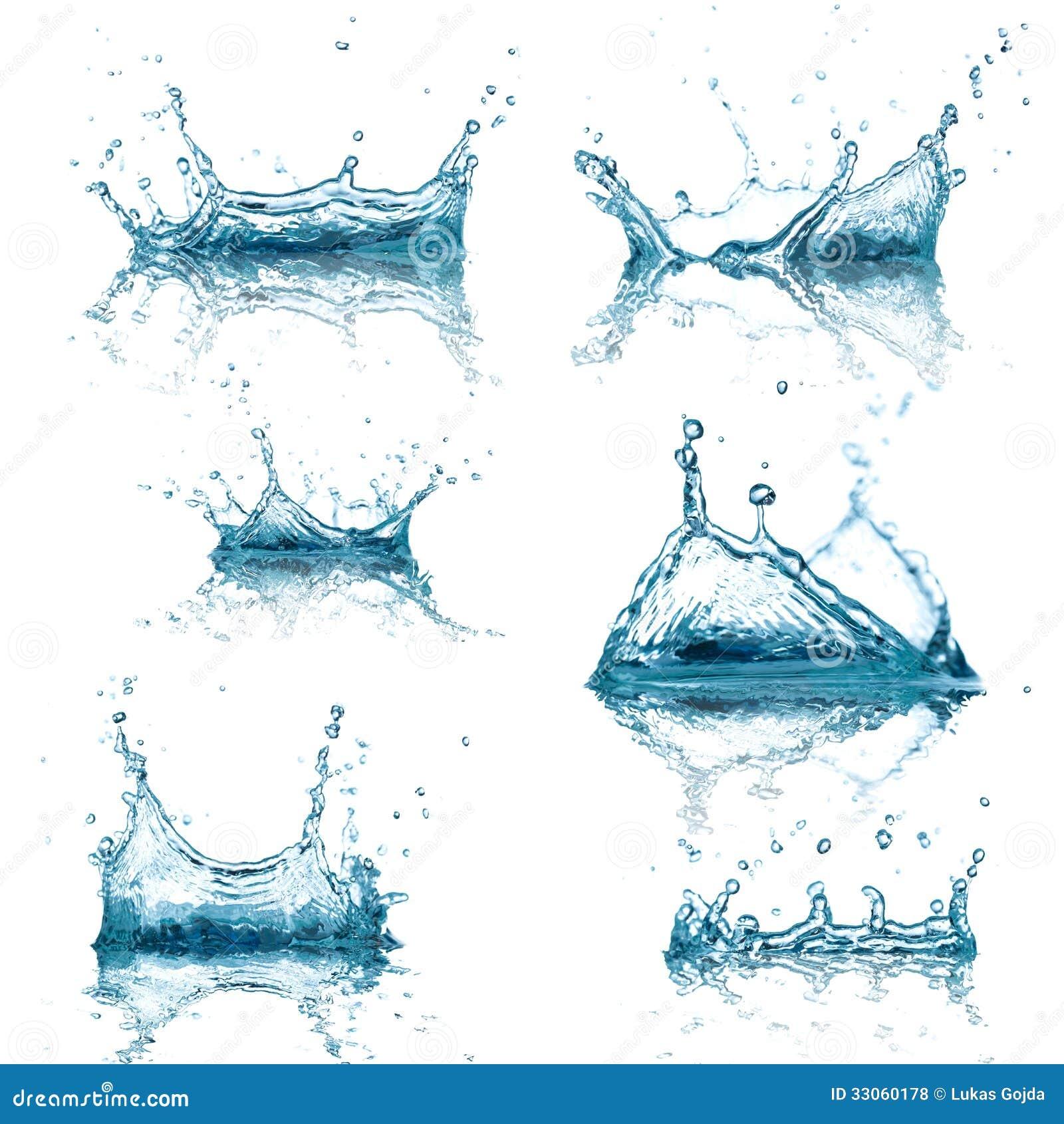 L acqua spruzza la raccolta
