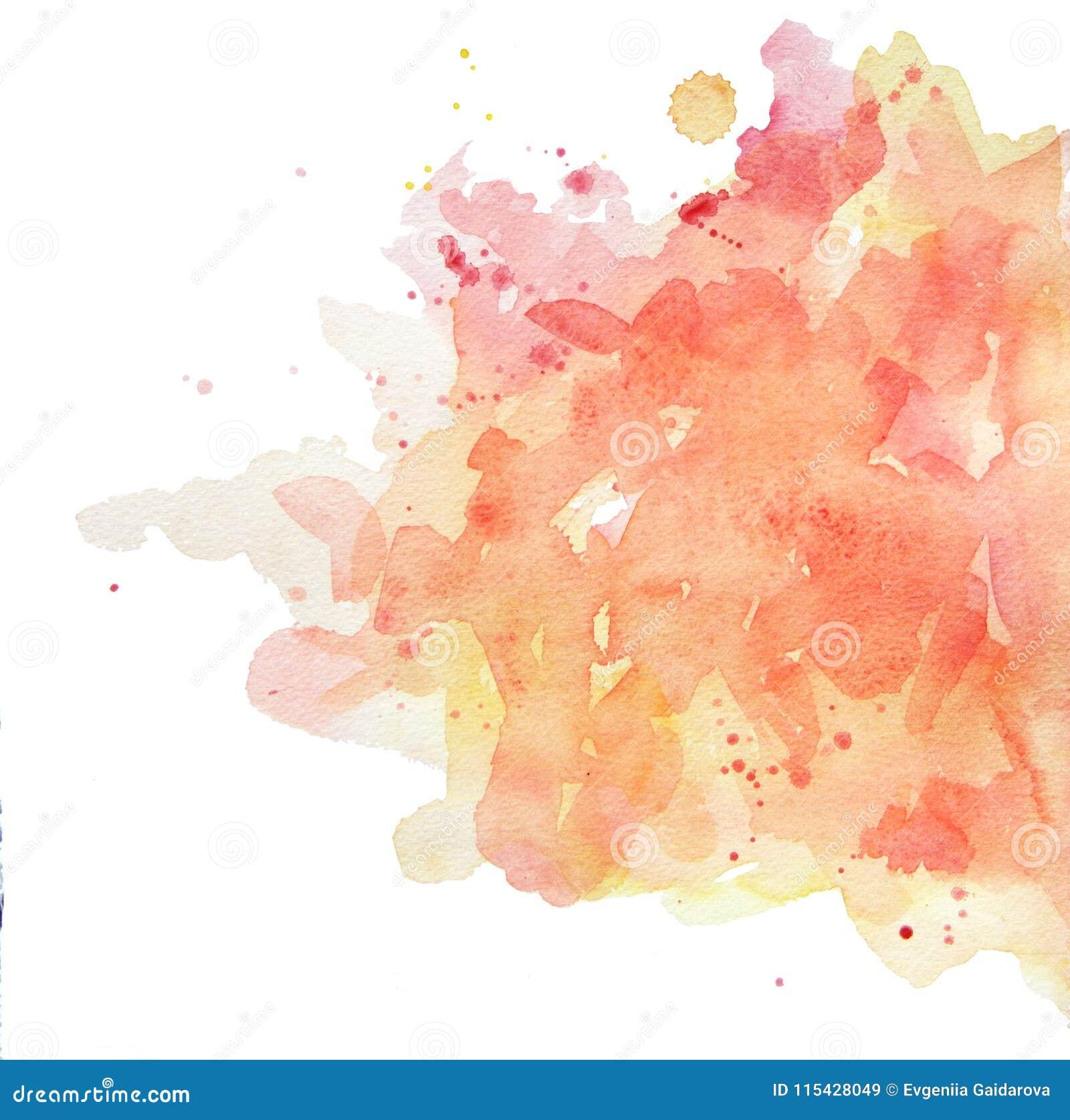 L acquerello macchia giallo-rosa pastello