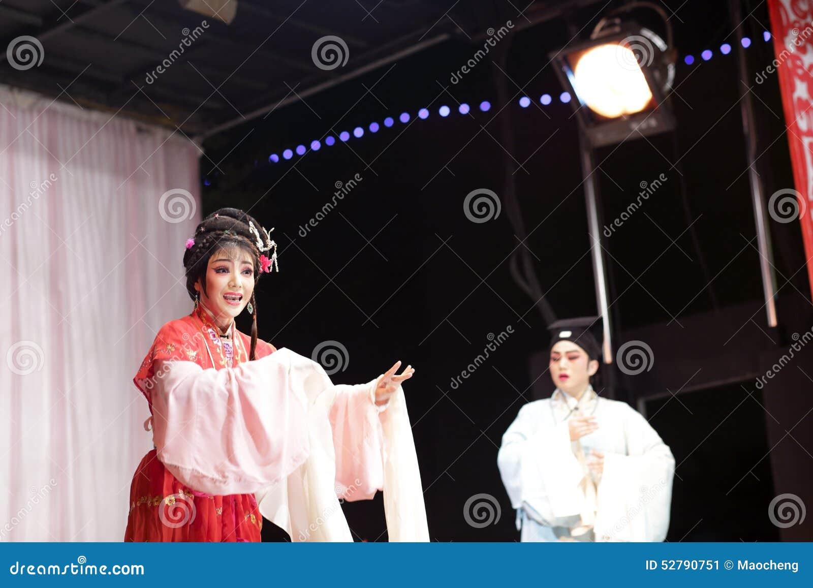 L acteur et l actrice chantent, les distillateurs jinyuliangyuan d opéra taiwanais