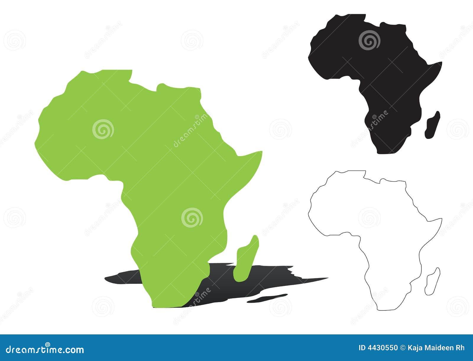 L Africa - vettore