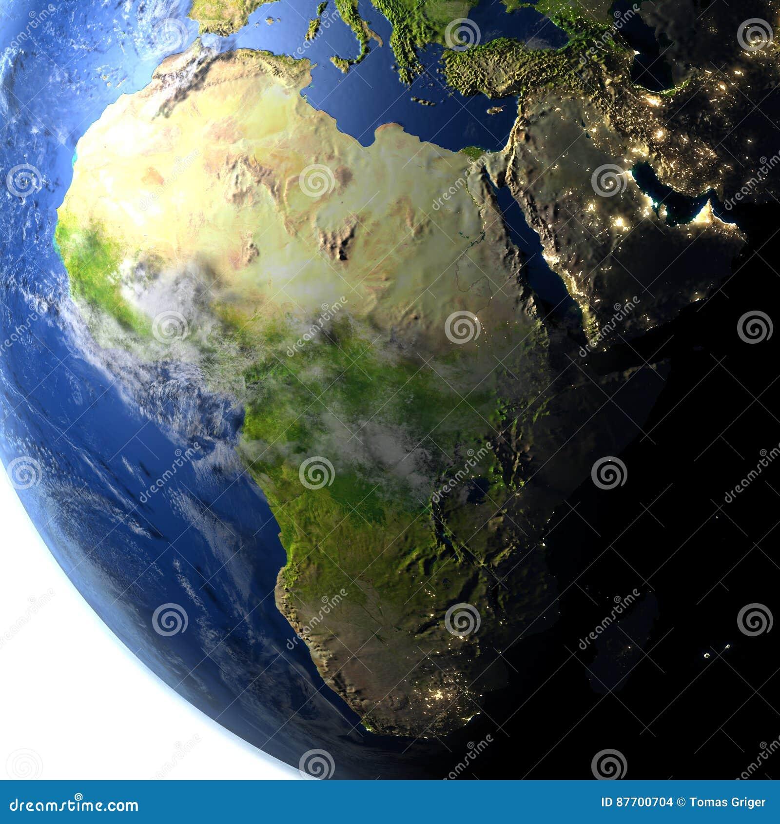 L Afrique sur terre de planète