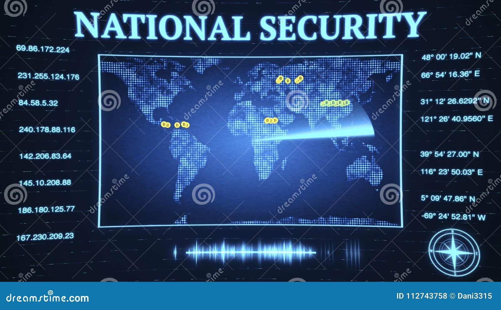 L agence de sécurité nationale de gouvernement fend vers le bas sur le virtu de bitcoin