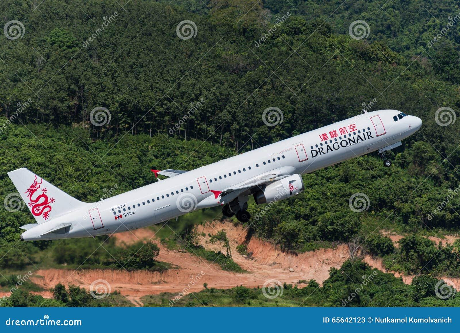 L air de dragon décollent de l aéroport de phuket