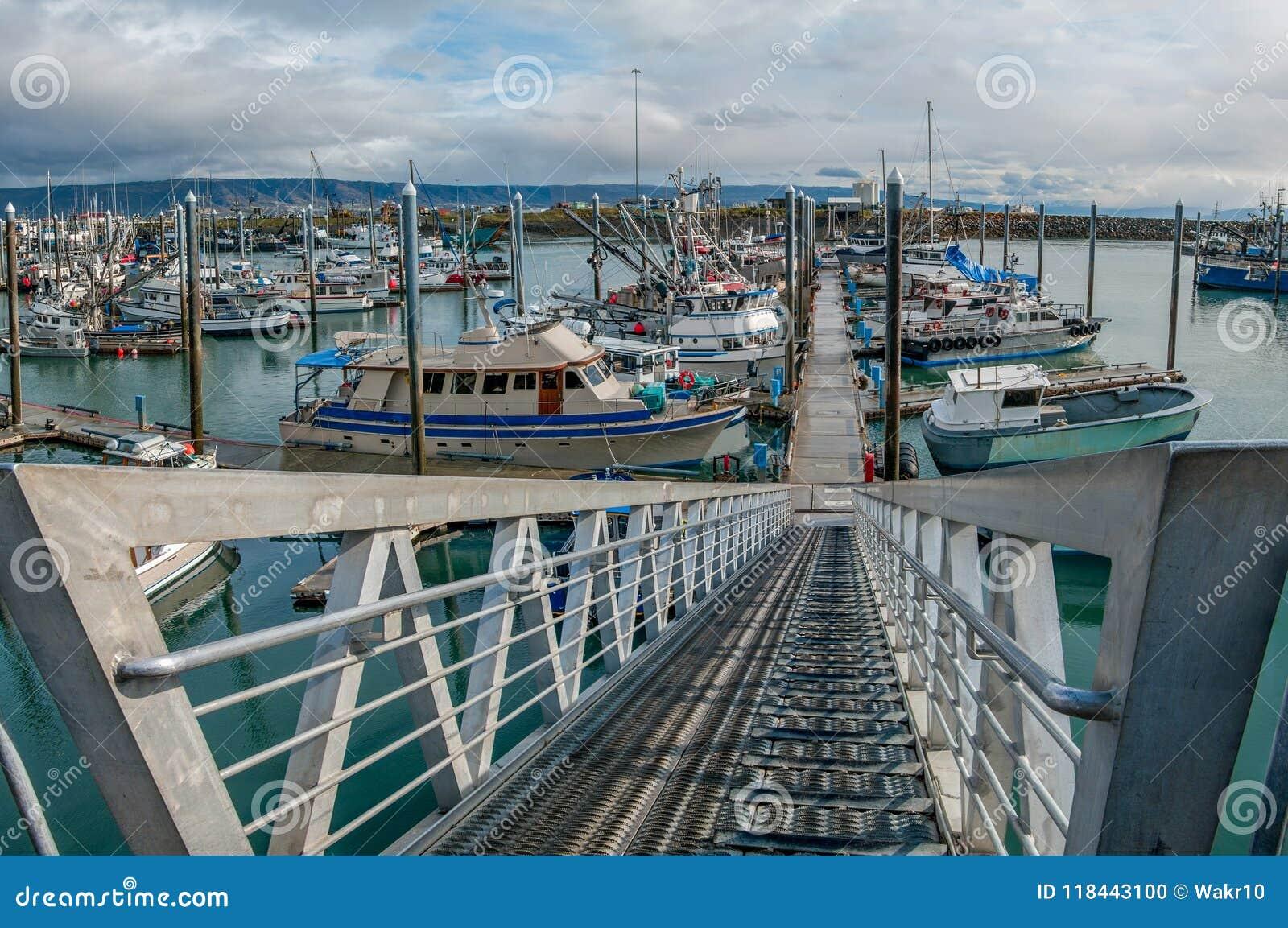 L Alaska Marina Entrance