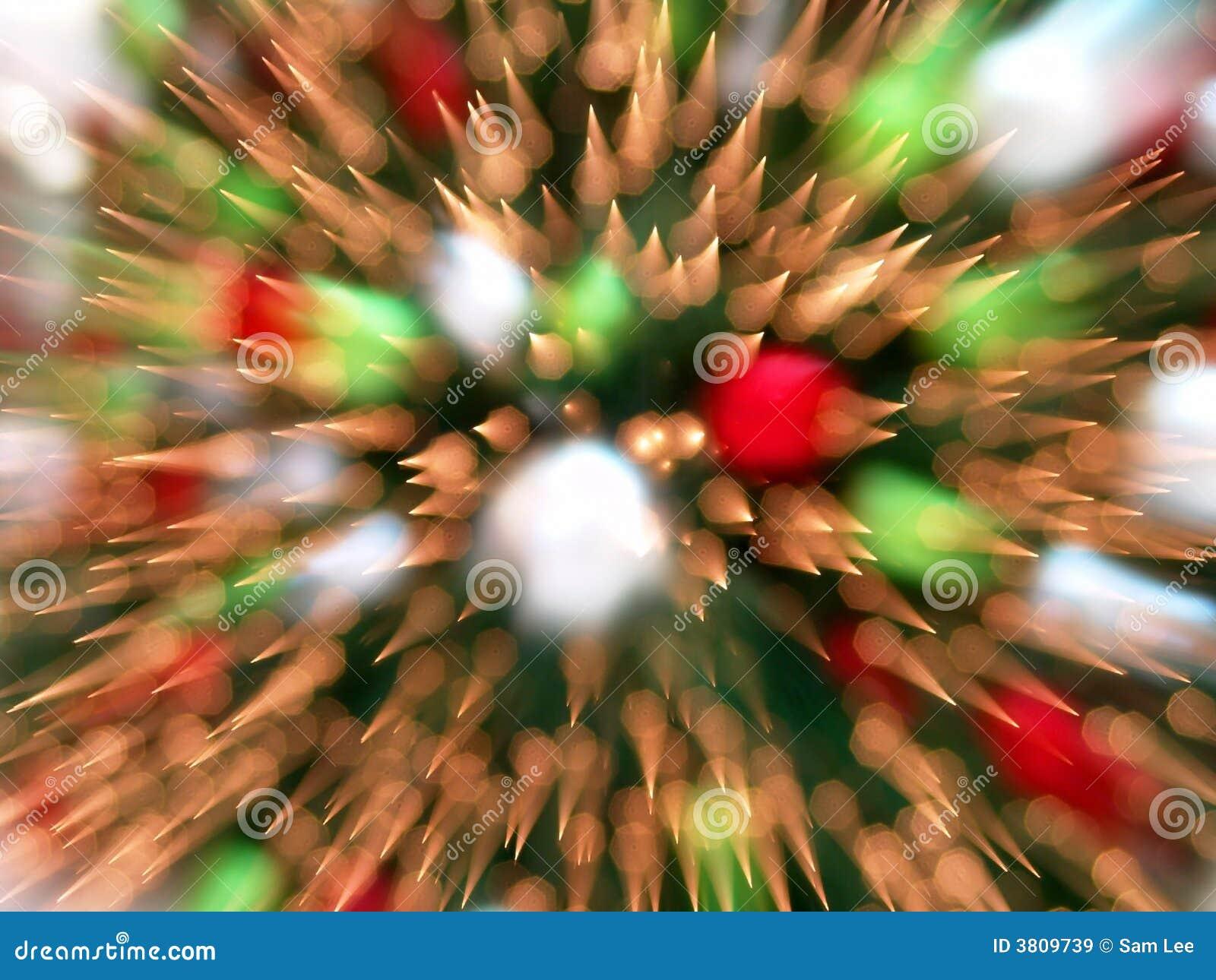 L albero di Natale illumina la priorità bassa astratta