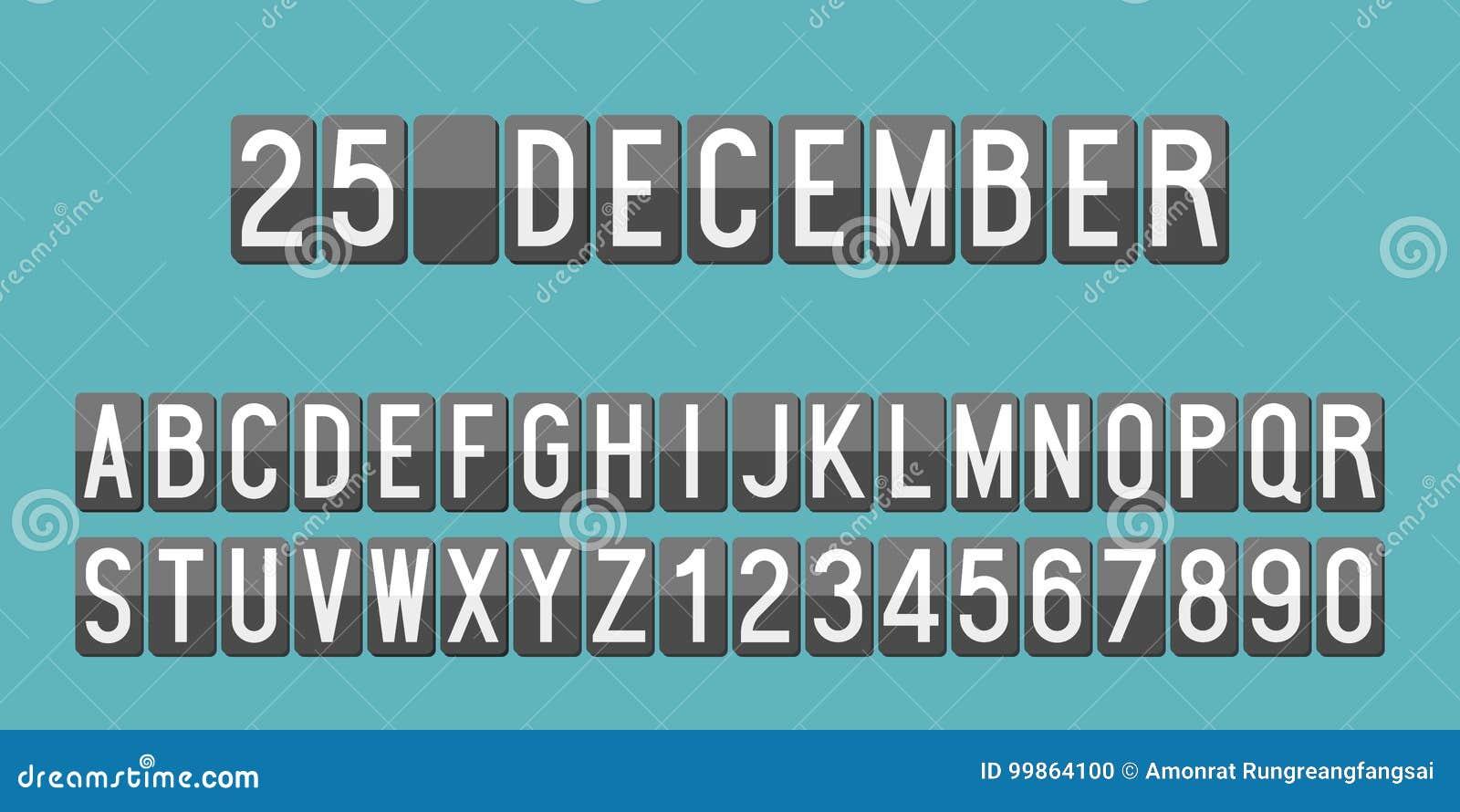Calendario Meccanici.L Alfabeto Ed I Numeri Meccanici Del Tabellone Segnapunti