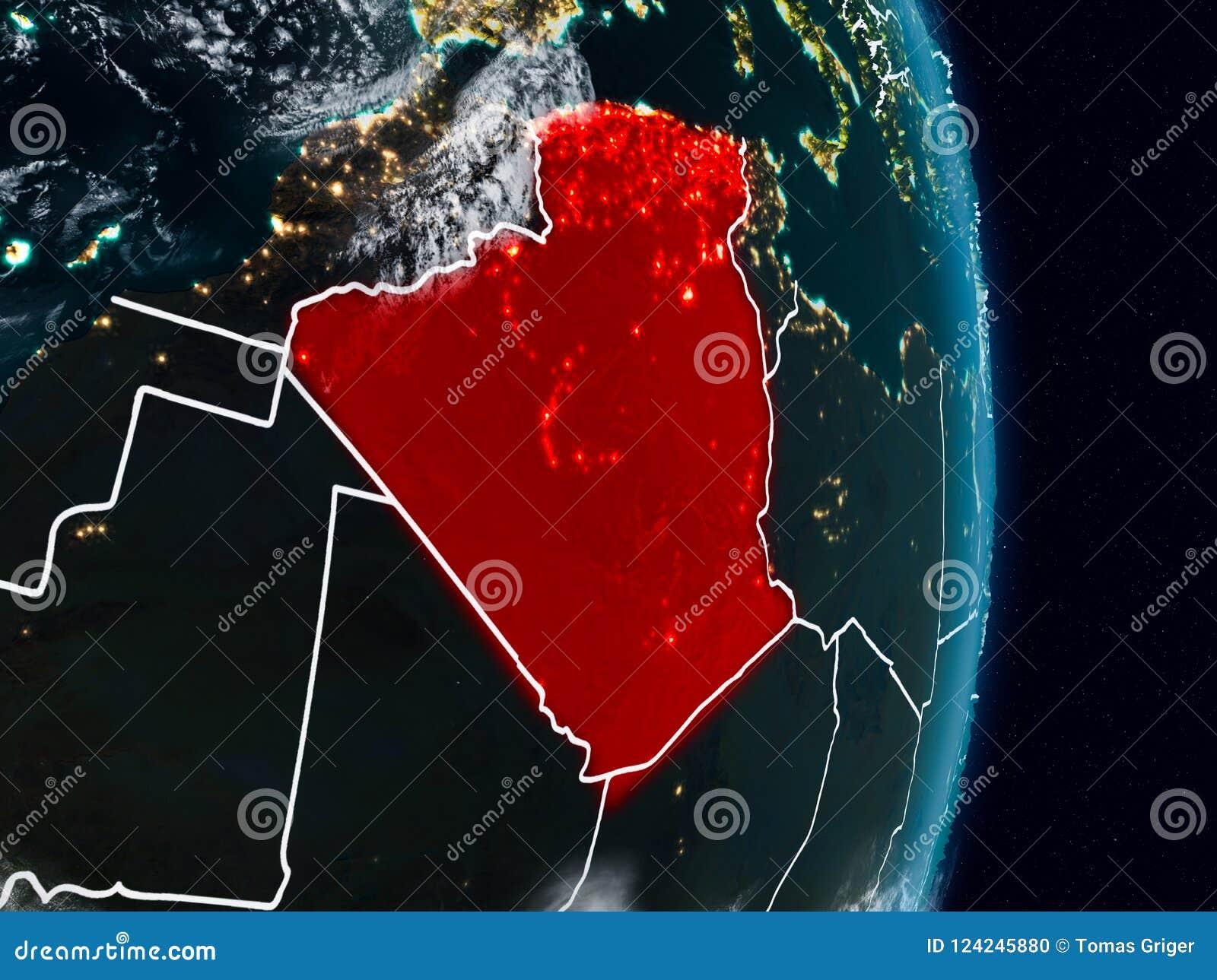 L Algérie de l espace la nuit