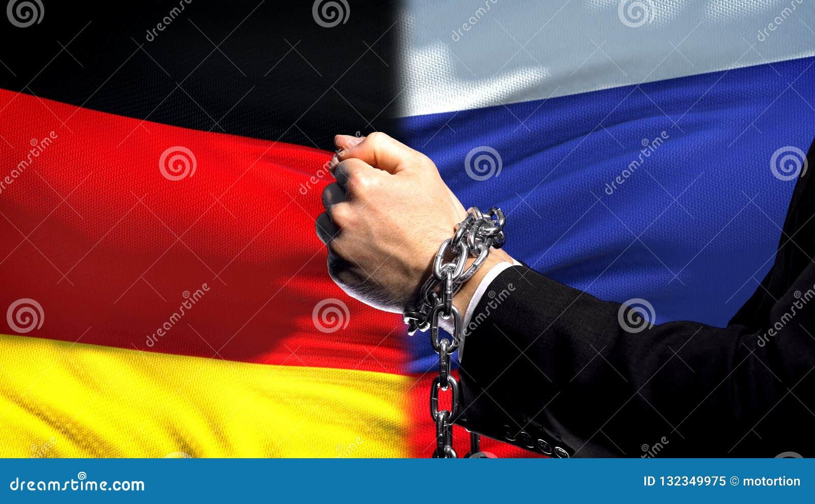 L Allemagne sanctionne la Russie, le conflit de bras, politique ou économique enchaîné, interdiction