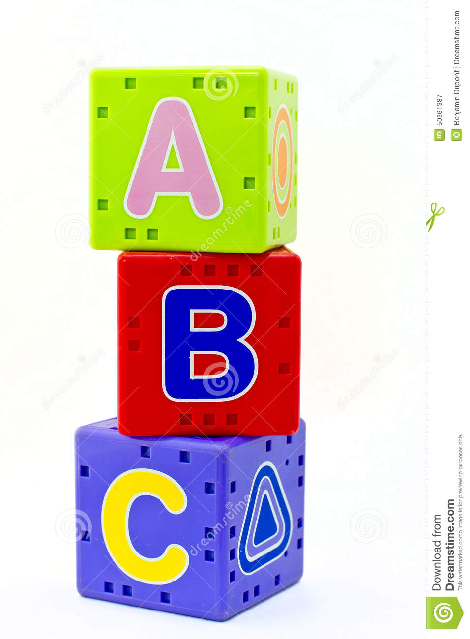 L At Abc Microsoft Com: L'alphabet ABC Cube Les Jouets éducatifs Photo Stock