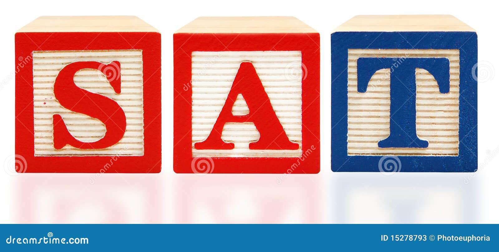 L alphabet bloque l essai scolastique d estimation de SAT