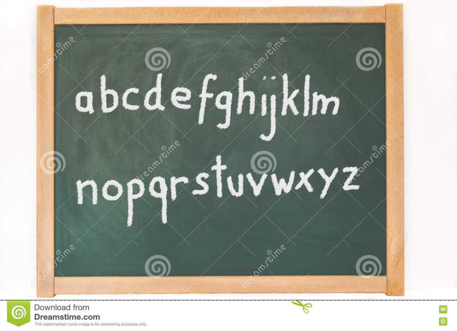L 39 alphabet se tient sur un tableau noir photo stock image 73002879 for Ecrire sur un tableau noir