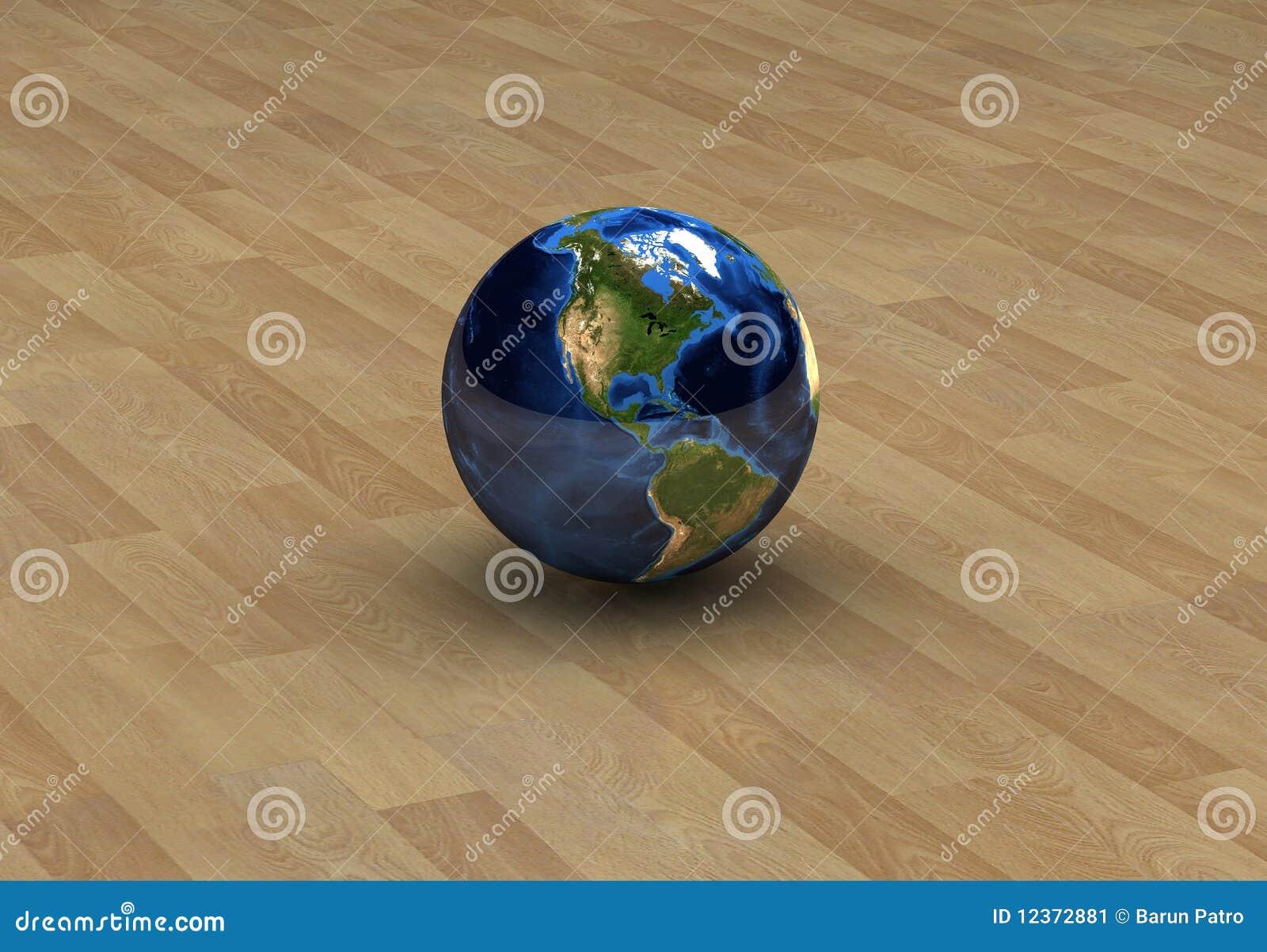 L Amérique sur le globe a isolé