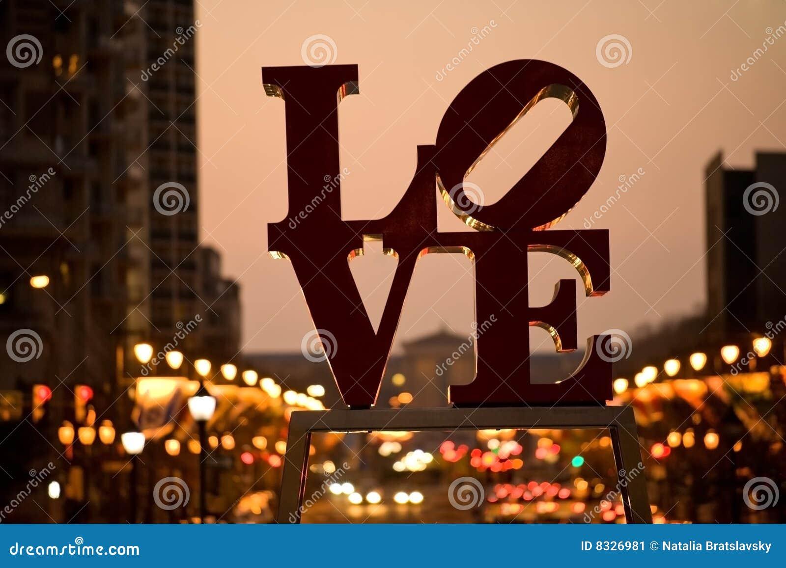 L amour célèbre signent dedans Philadelphie