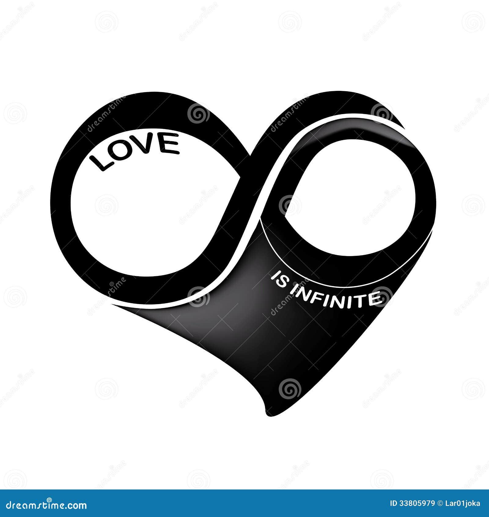 l 39 amour est infini images libres de droits image 33805979. Black Bedroom Furniture Sets. Home Design Ideas