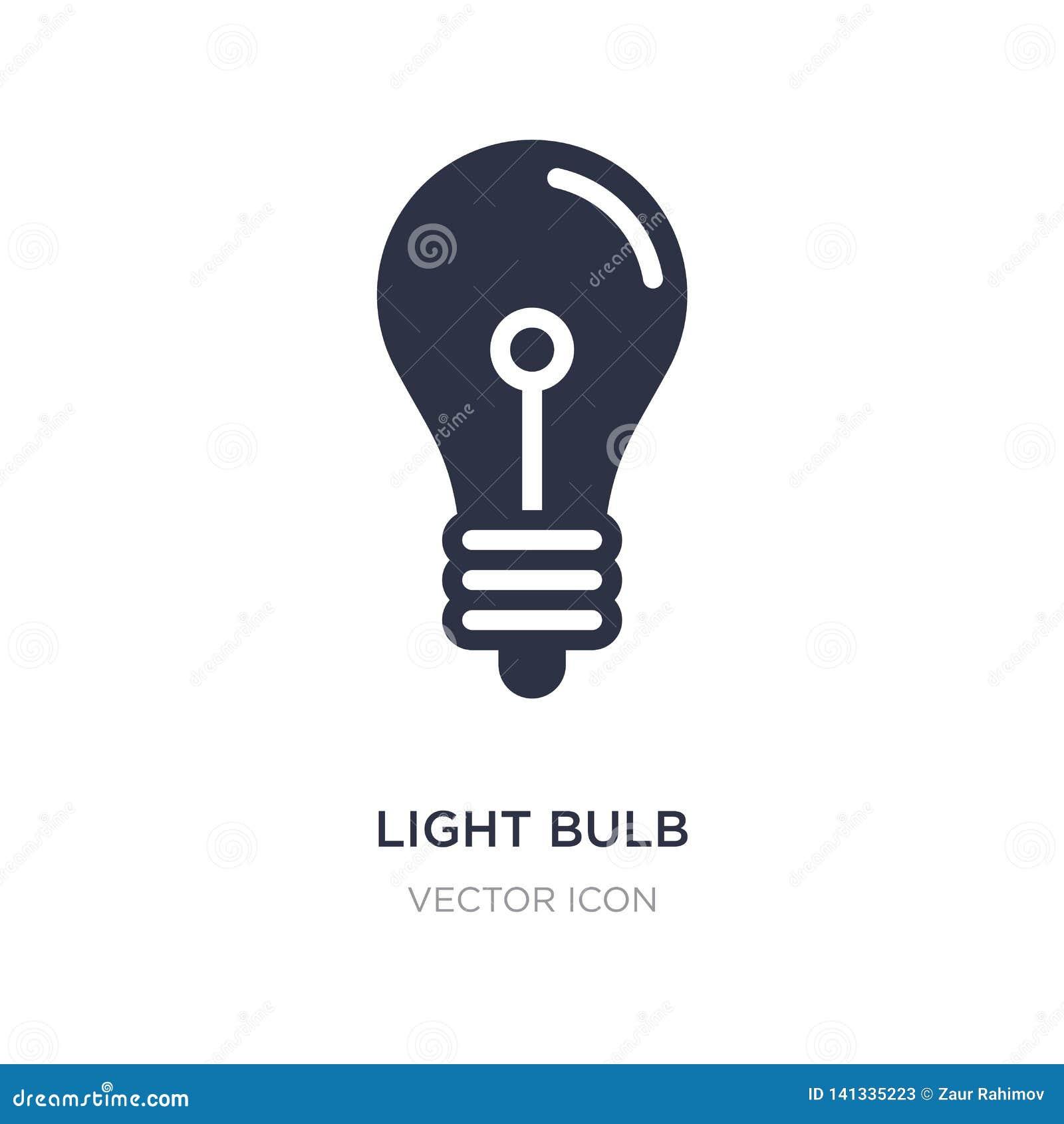 L ampoule a arrêté l icône sur le fond blanc Illustration simple d élément de concept de technologie