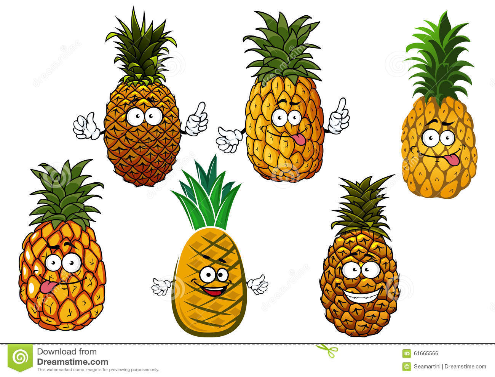l 39 ananas juteux porte des fruits des personnages de dessin anim illustration de vecteur image. Black Bedroom Furniture Sets. Home Design Ideas