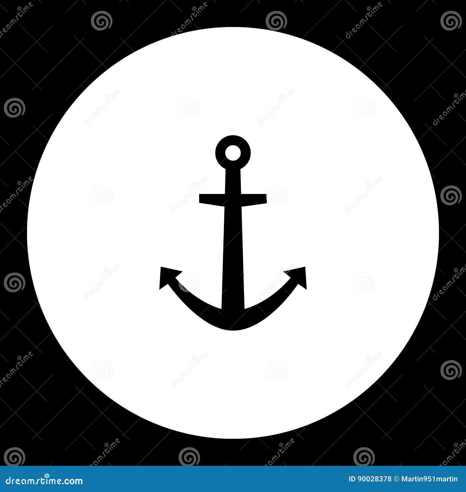 L Ancre Pour Le Noir Simple De Bateau A Isole L Icone Eps10 Illustration Stock Illustration Du Dock Anchor 90028378