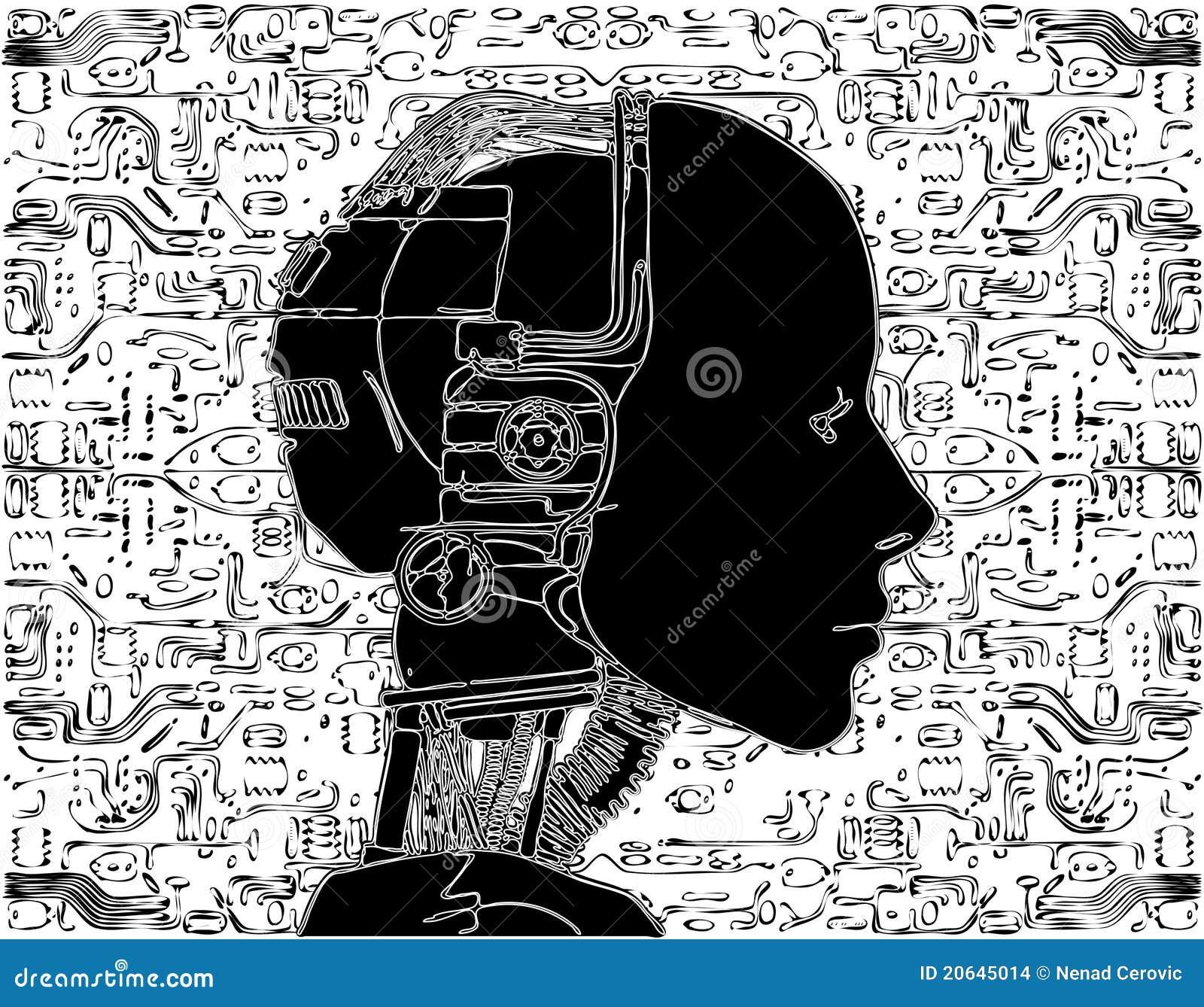 L androïde indique la technologie interne