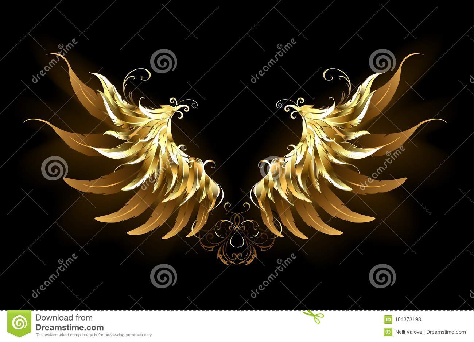L ange brillant s envole les ailes d or