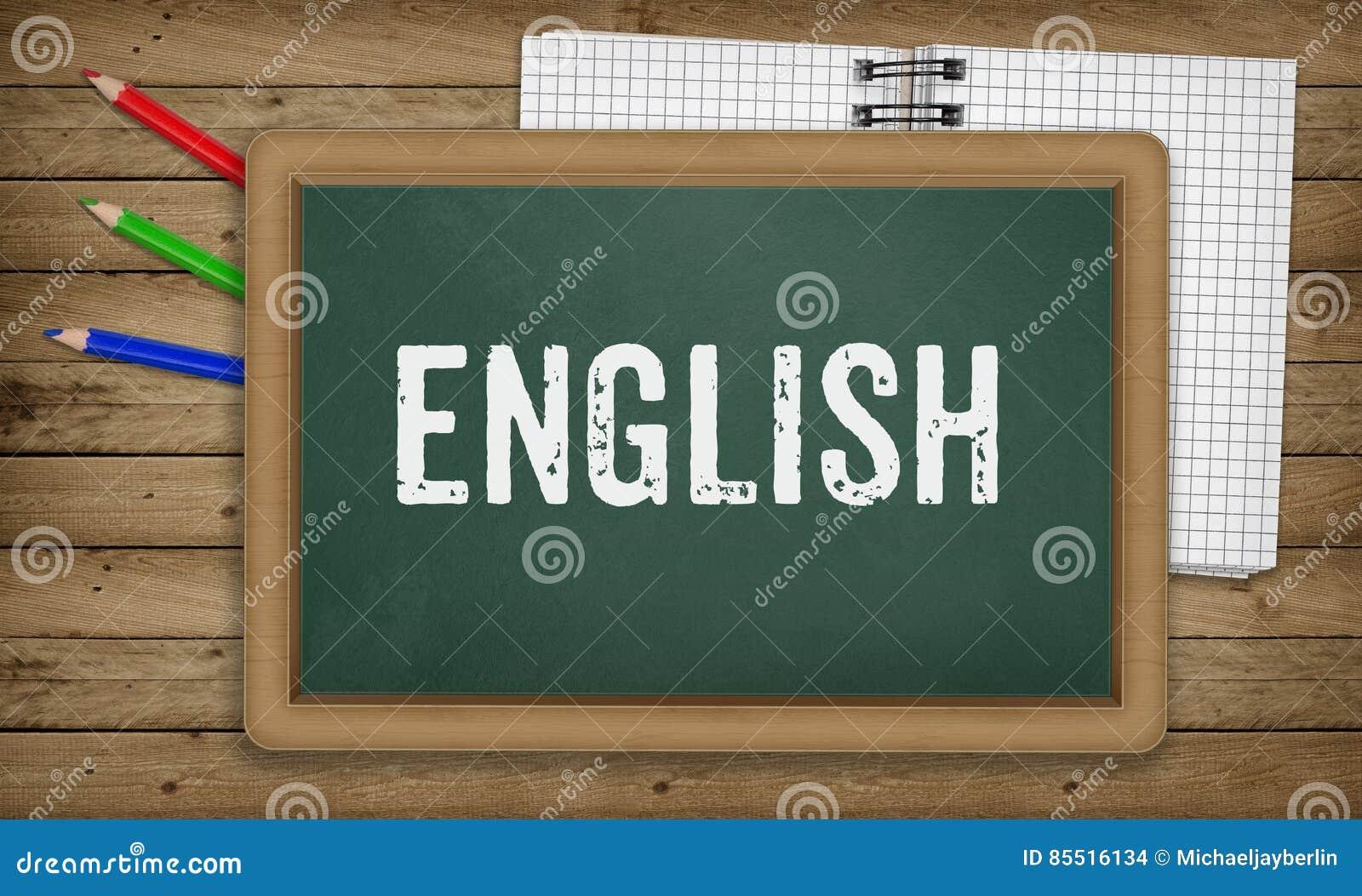 L Anglais Sur Le Tableau Noir Concept D Ecole D Education