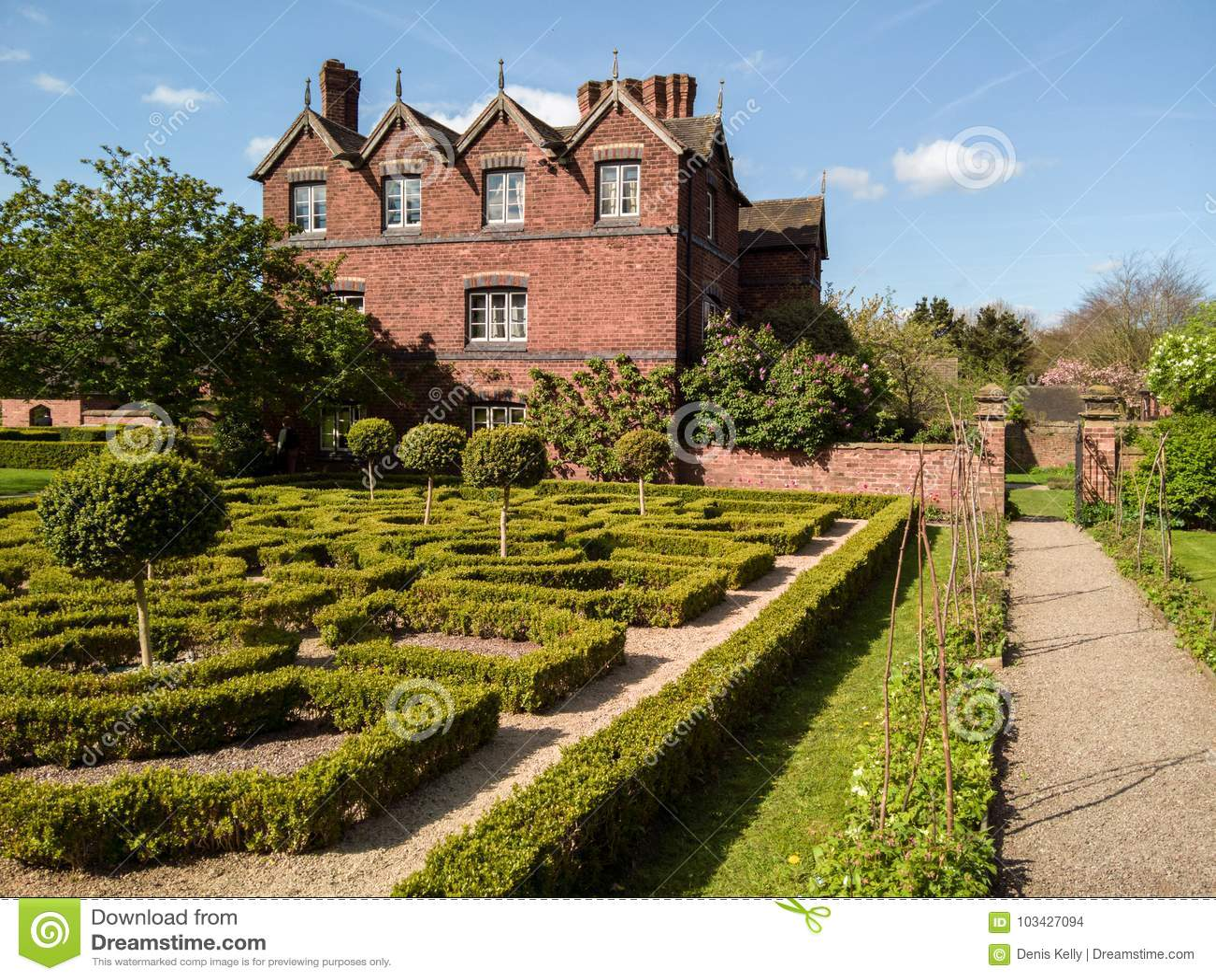 L anglais Tudor Knot Garden