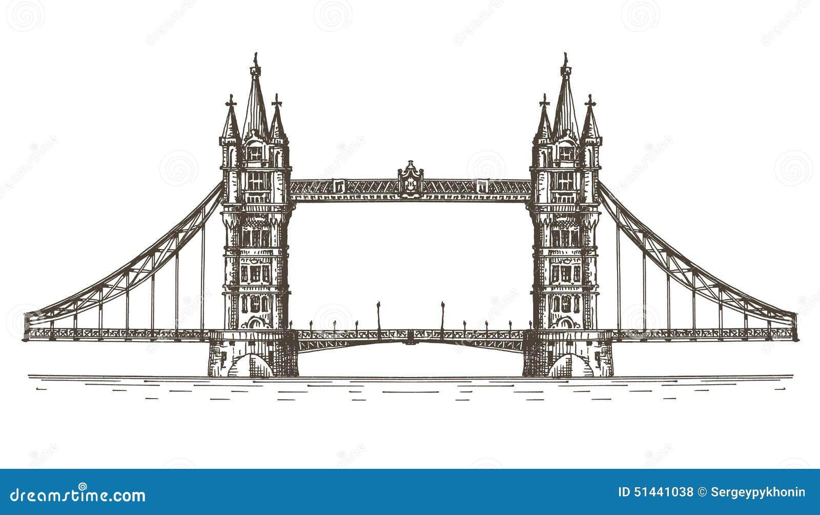 L 39 angleterre londres le pont sur un fond blanc illustration stock illustration du graphisme - Dessin de l angleterre ...