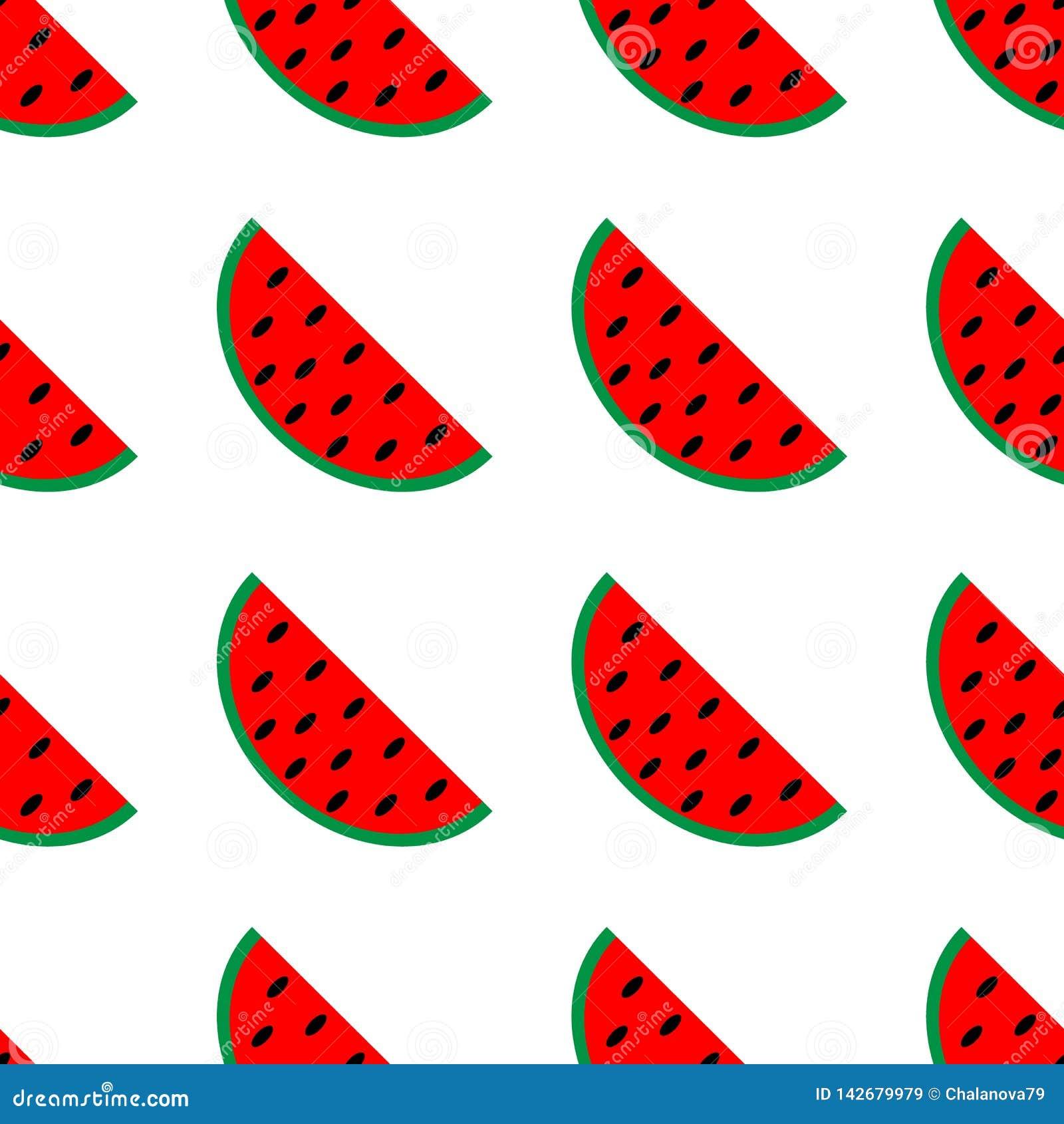 L anguria rossa affetta il modello senza cuciture raccolta della frutta per l imballaggio del succo tessuto, avvolgentesi, carte