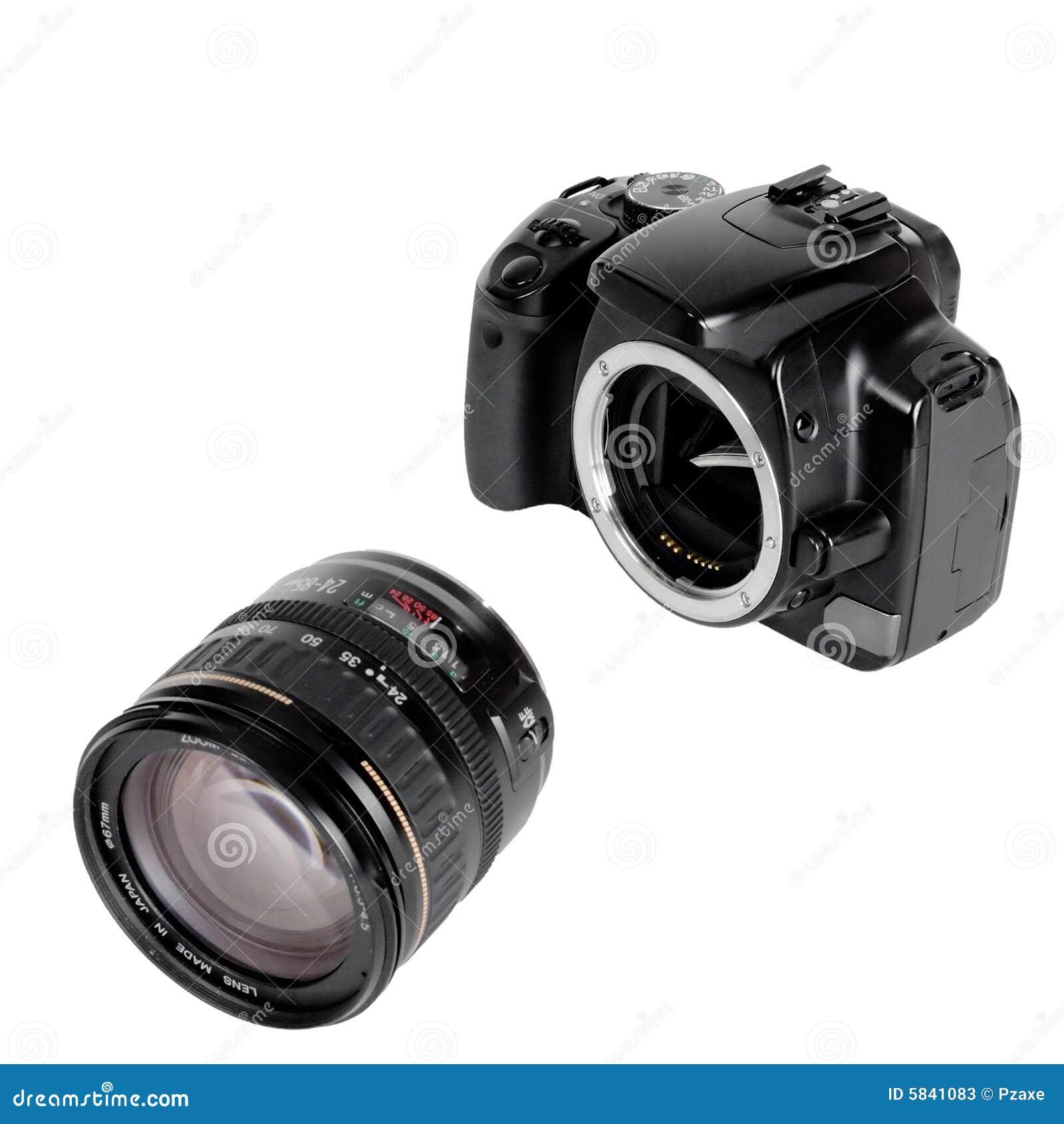 l 39 appareil photo et l 39 objectif photos stock image 5841083. Black Bedroom Furniture Sets. Home Design Ideas
