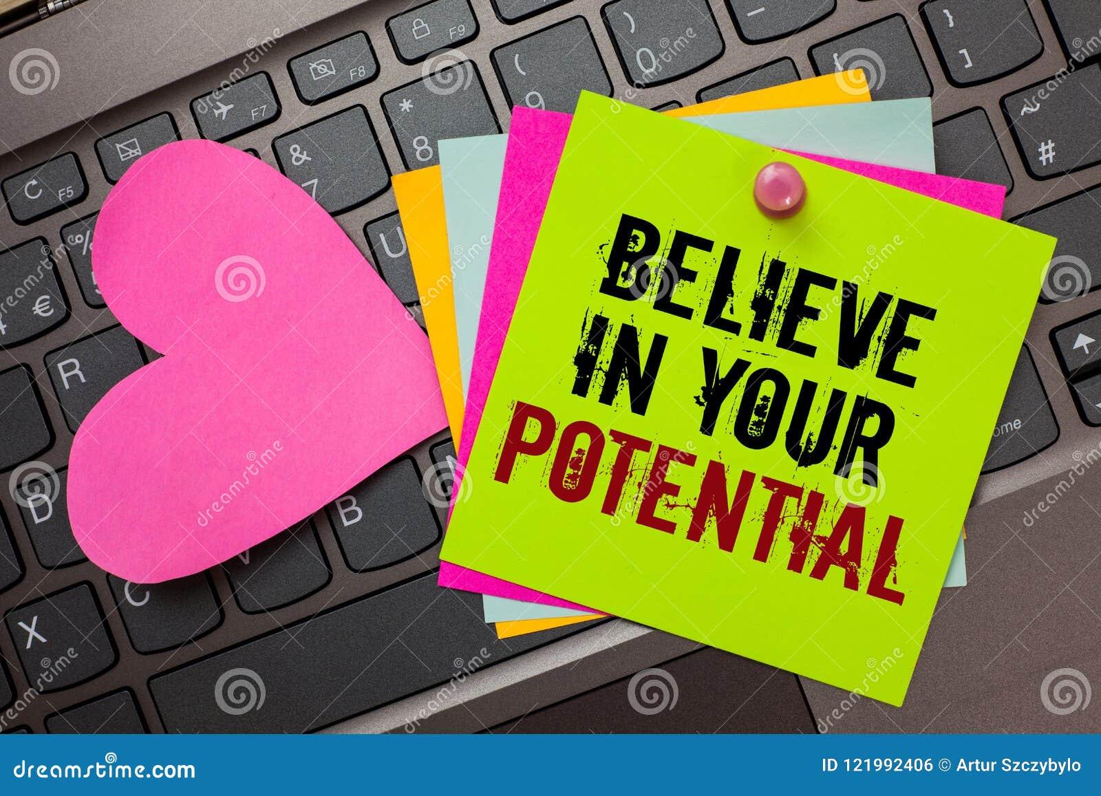 L apparence de signe des textes croient en votre potentiel La photo conceptuelle font s inspirer le motiavate de confiance en soi